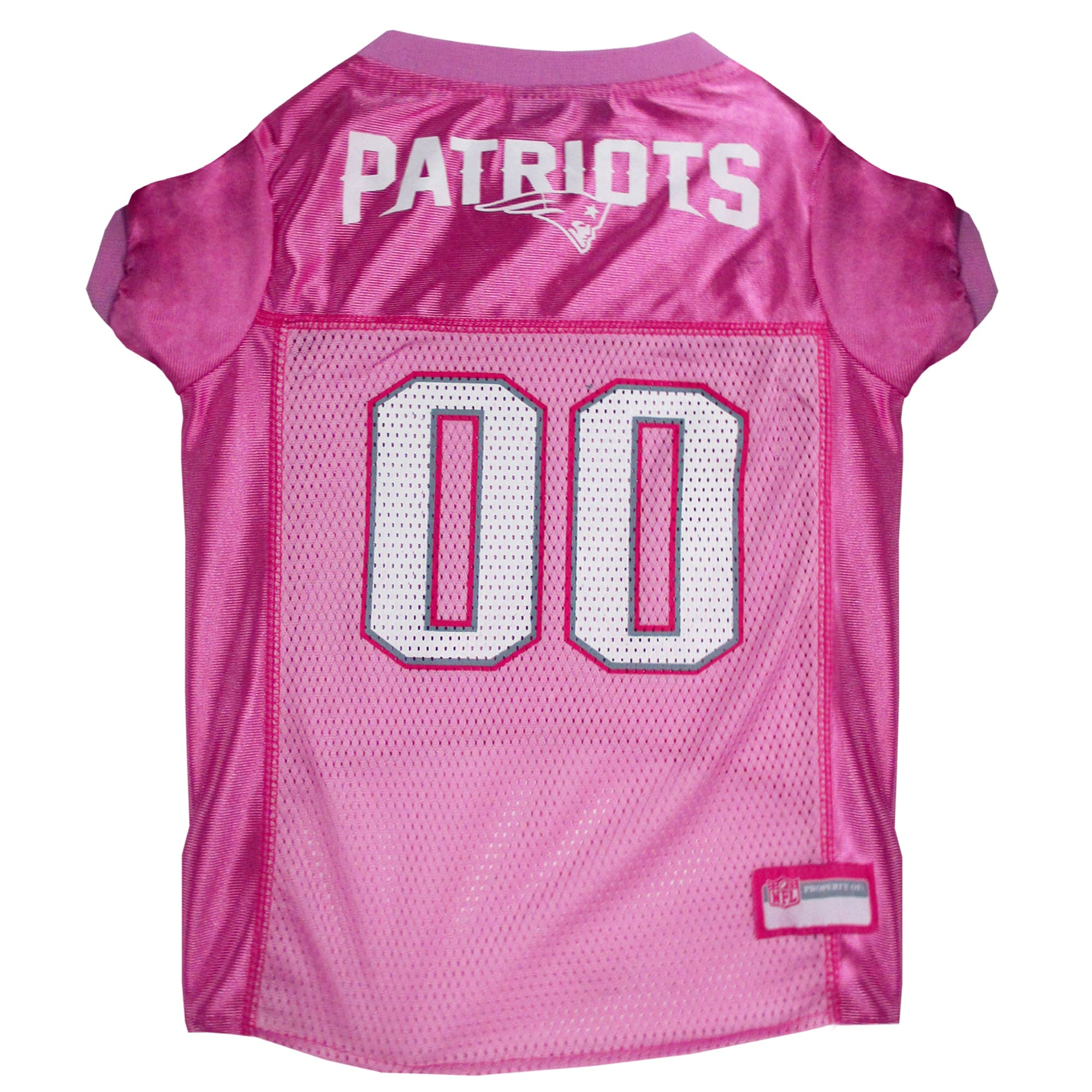 Pets First New England Patriots NFL Pink Mesh Jersey, X-Small