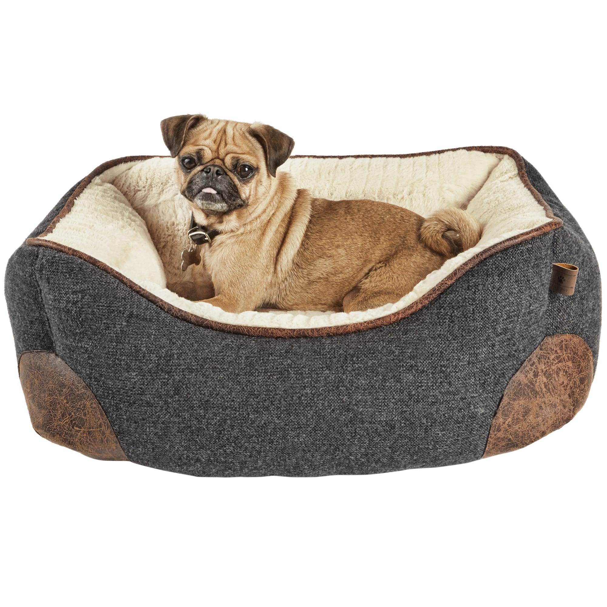 Harmony Grey Nester Memory Foam Dog Bed