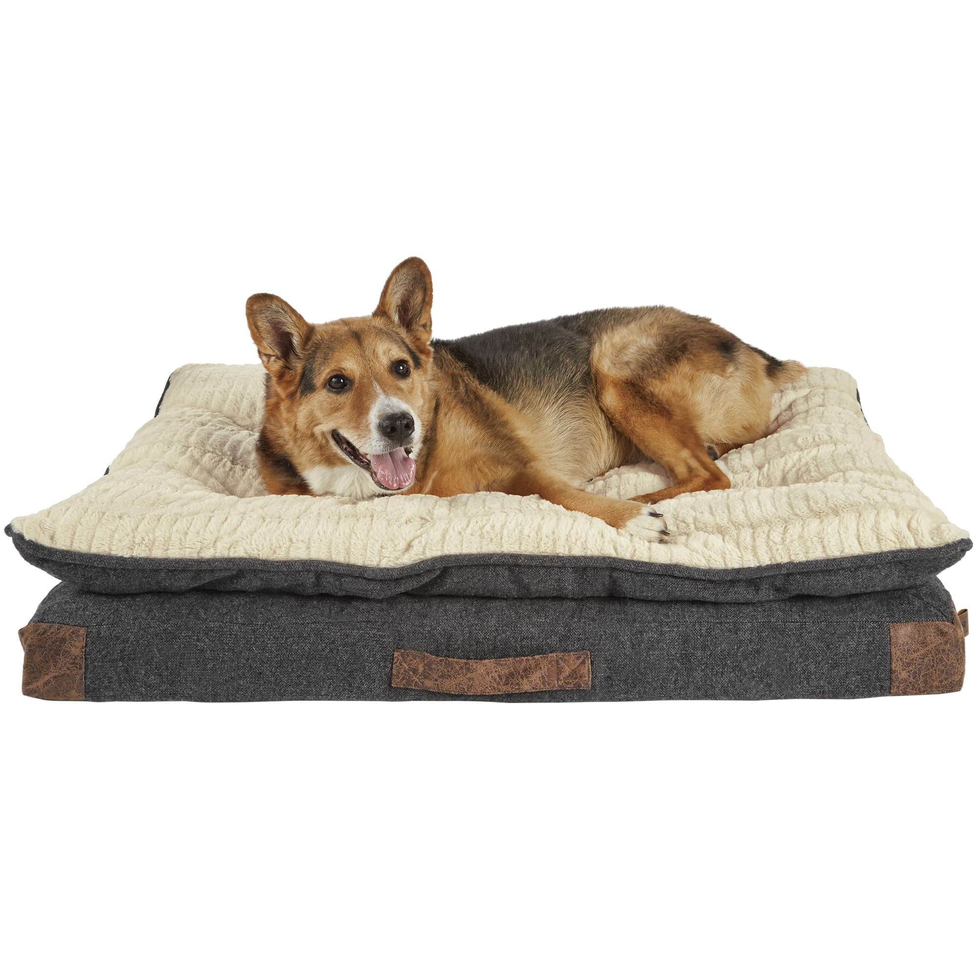 Harmony Grey Patched Pillowtop Lounger Orthopedic Dog Bed 40 L X 30 W Petco