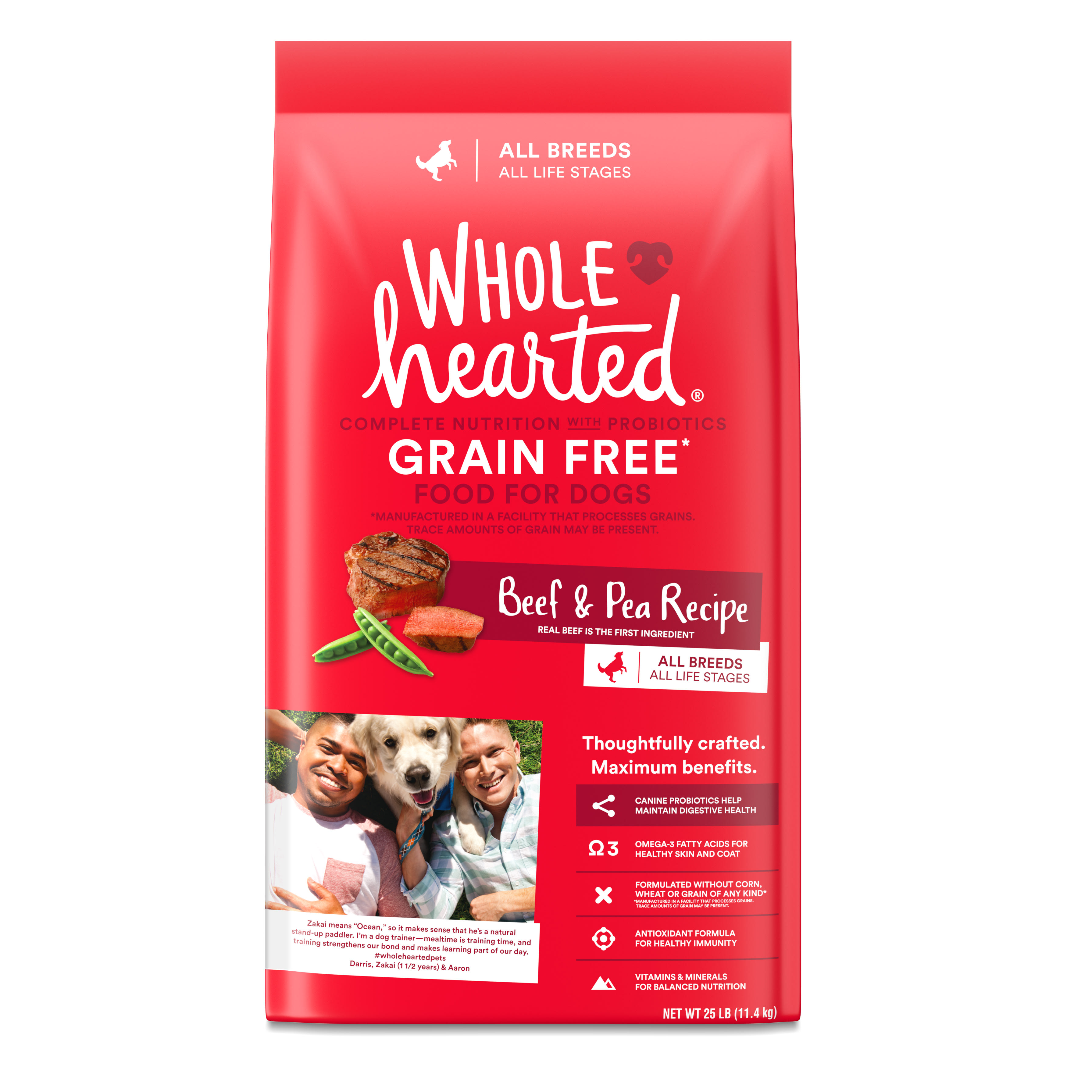 WholeHearted Grain Free All Life Stages Beef & Pea Formula Dry Dog Food, 25  lbs. | Petco