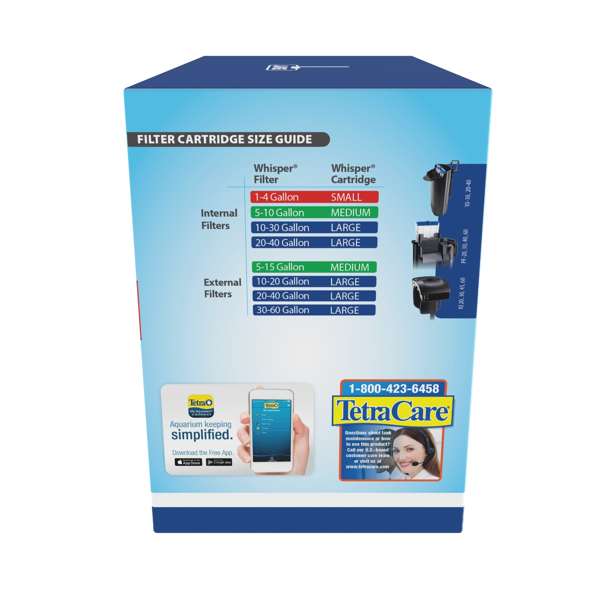 8 Tetra Whisper Bio Bag Filter Cartridges for 1 2 3 20 40 60 Size Regular//Large