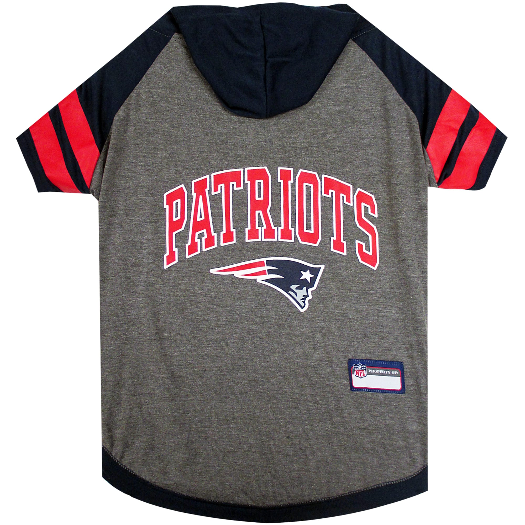 Pets First New England Patriots Hoodie Tee Shirt For Dogs, Small
