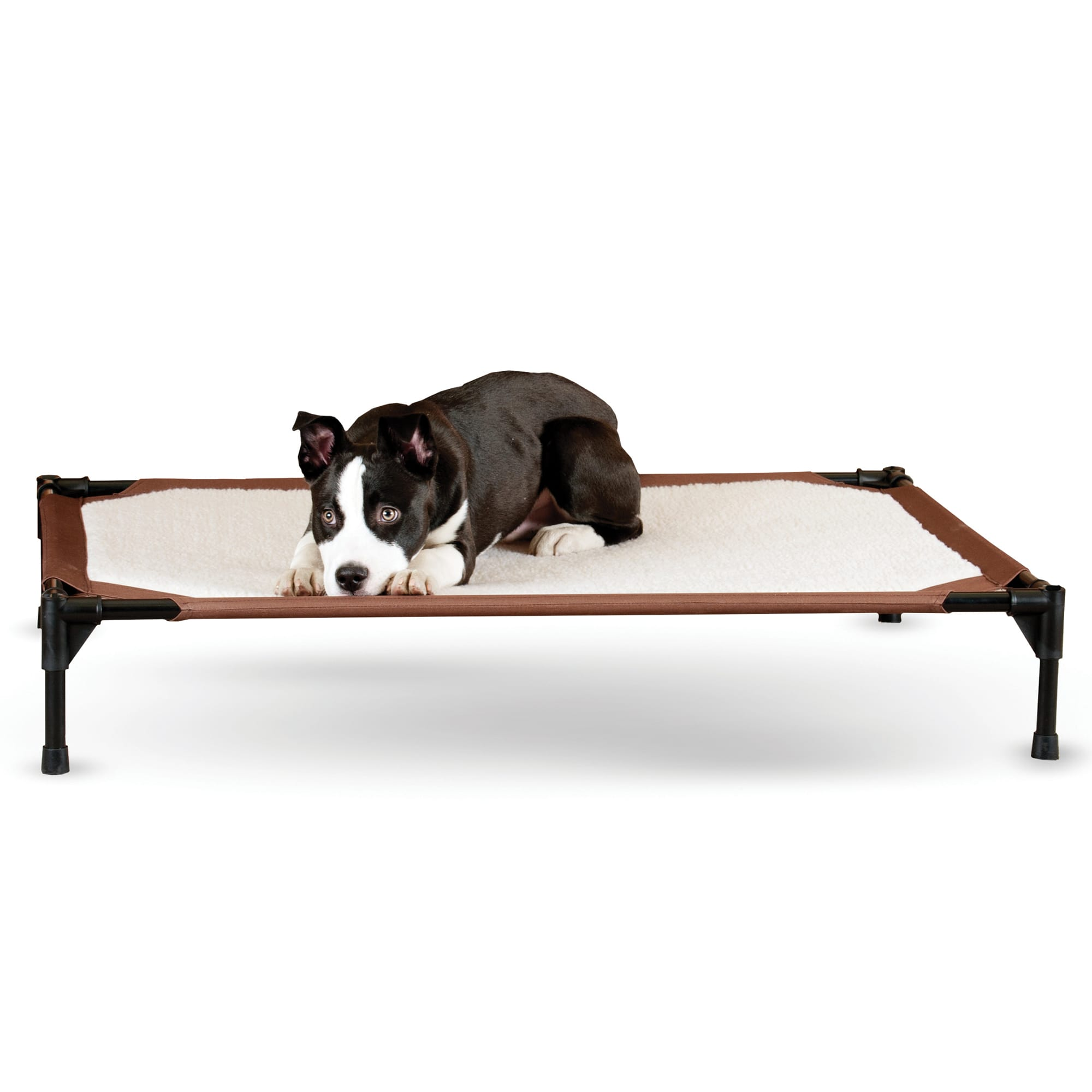 Our super successful K&H Original Pet Cot is now available in a fleecy, comfortable, self warming model. Strong enough to hold over 150 lbs.