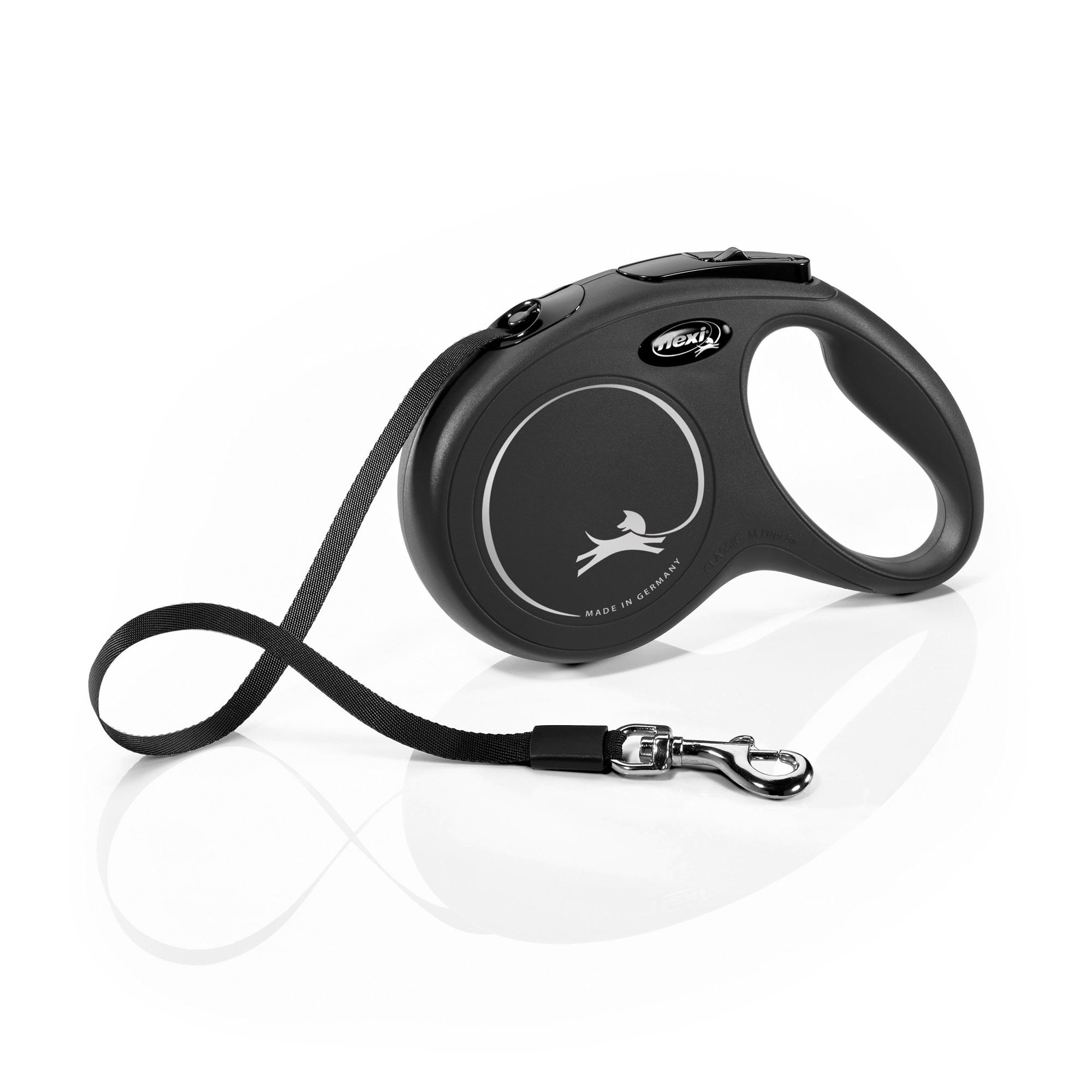 Flexi Classic Retractable Dog Leash in Black, Medium 16' | Petco