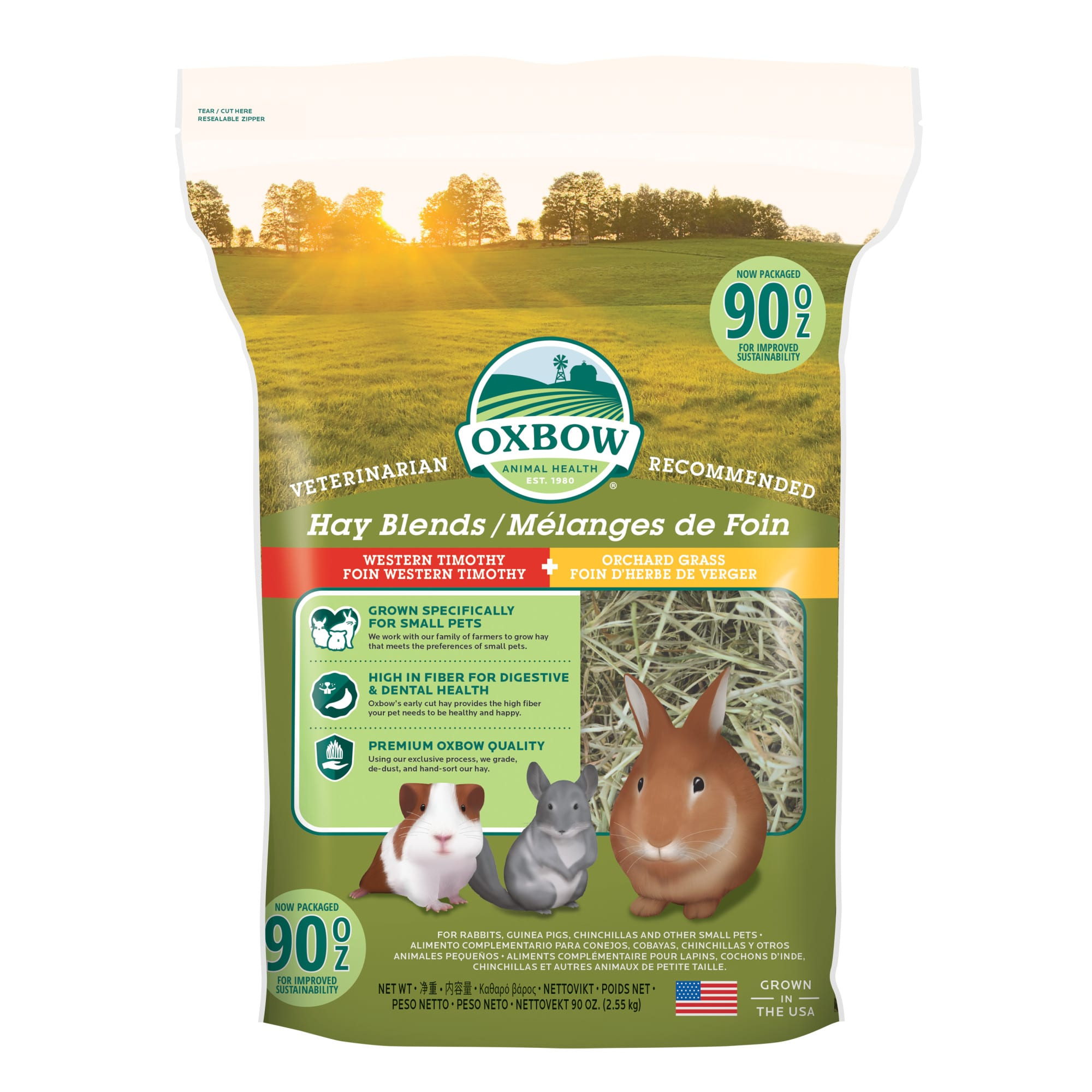 Oxbow Hay Blends Western Timothy And Orchard 90 Oz Petco