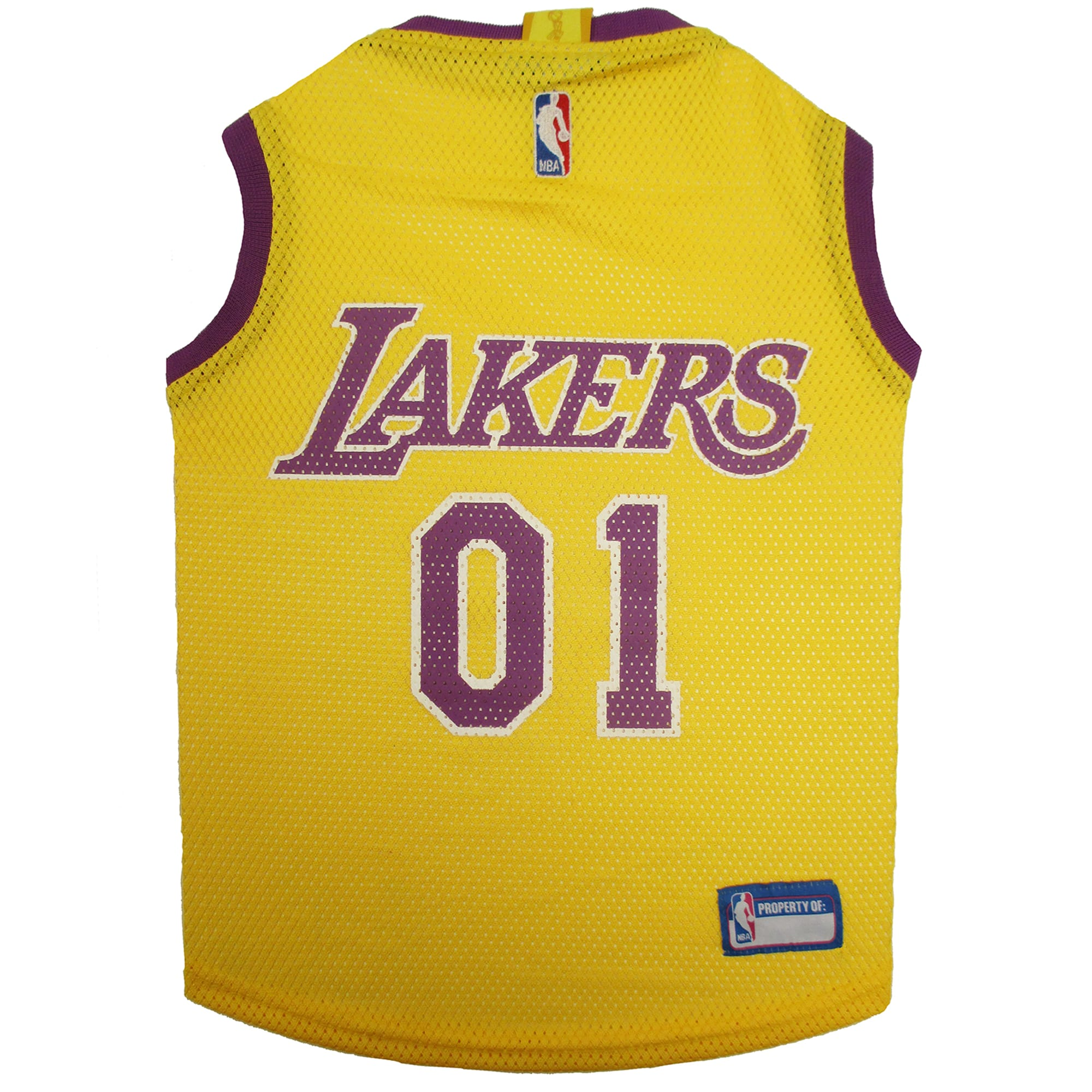 Pets First Los Angeles Lakers NBA Mesh Jersey for Dogs, X-Small