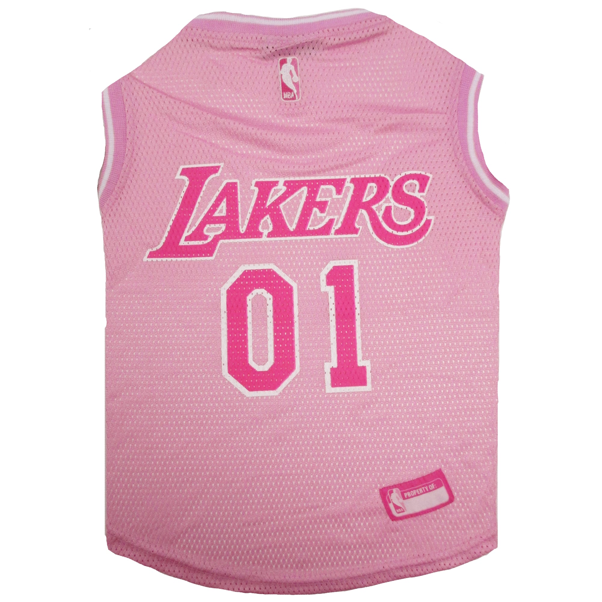 Pets First Los Angeles Lakers NBA Pink Jersey for Dogs, X-Small
