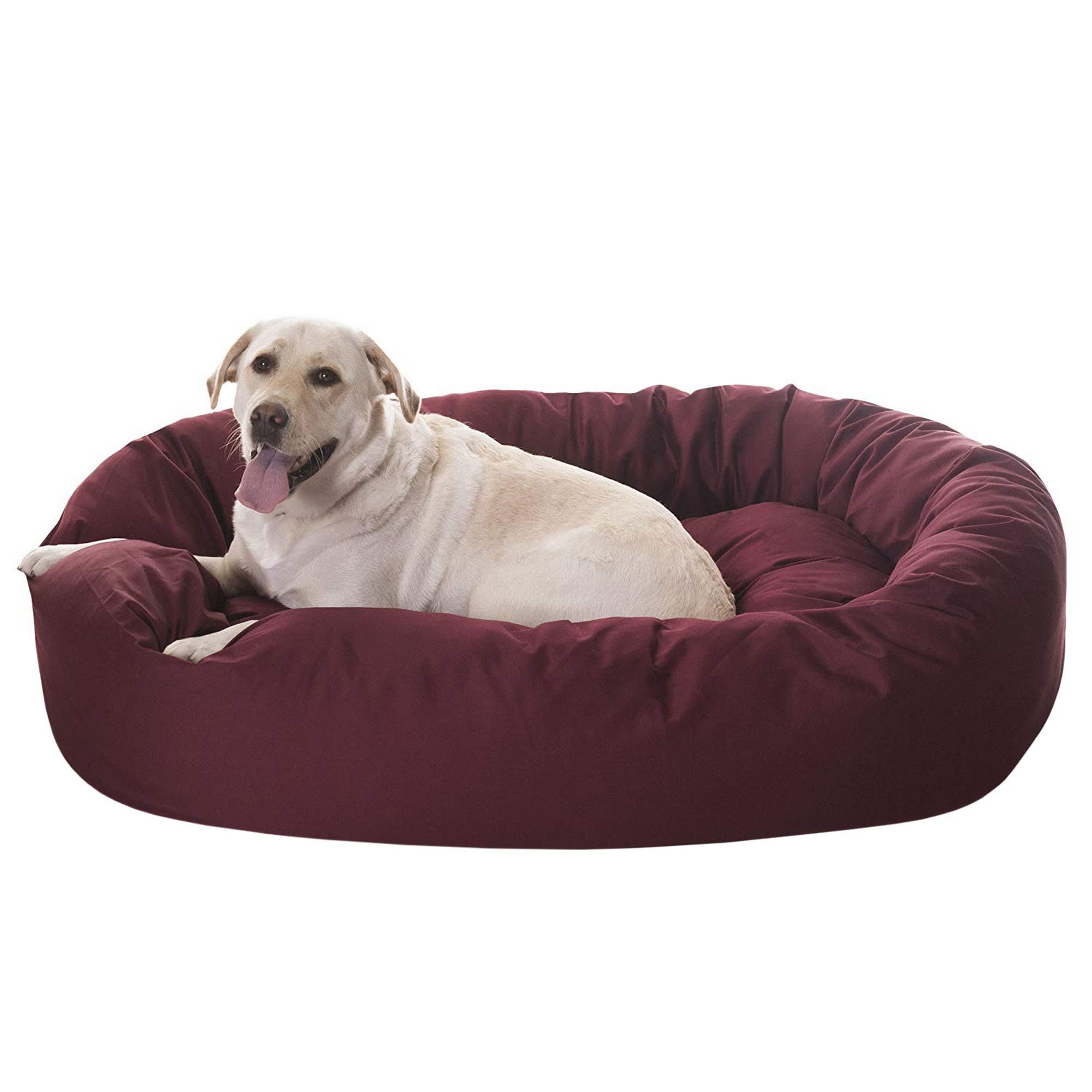 Picture of: Majestic Pet Burgundy Bagel Dog Bed 52 L X 35 W Petco