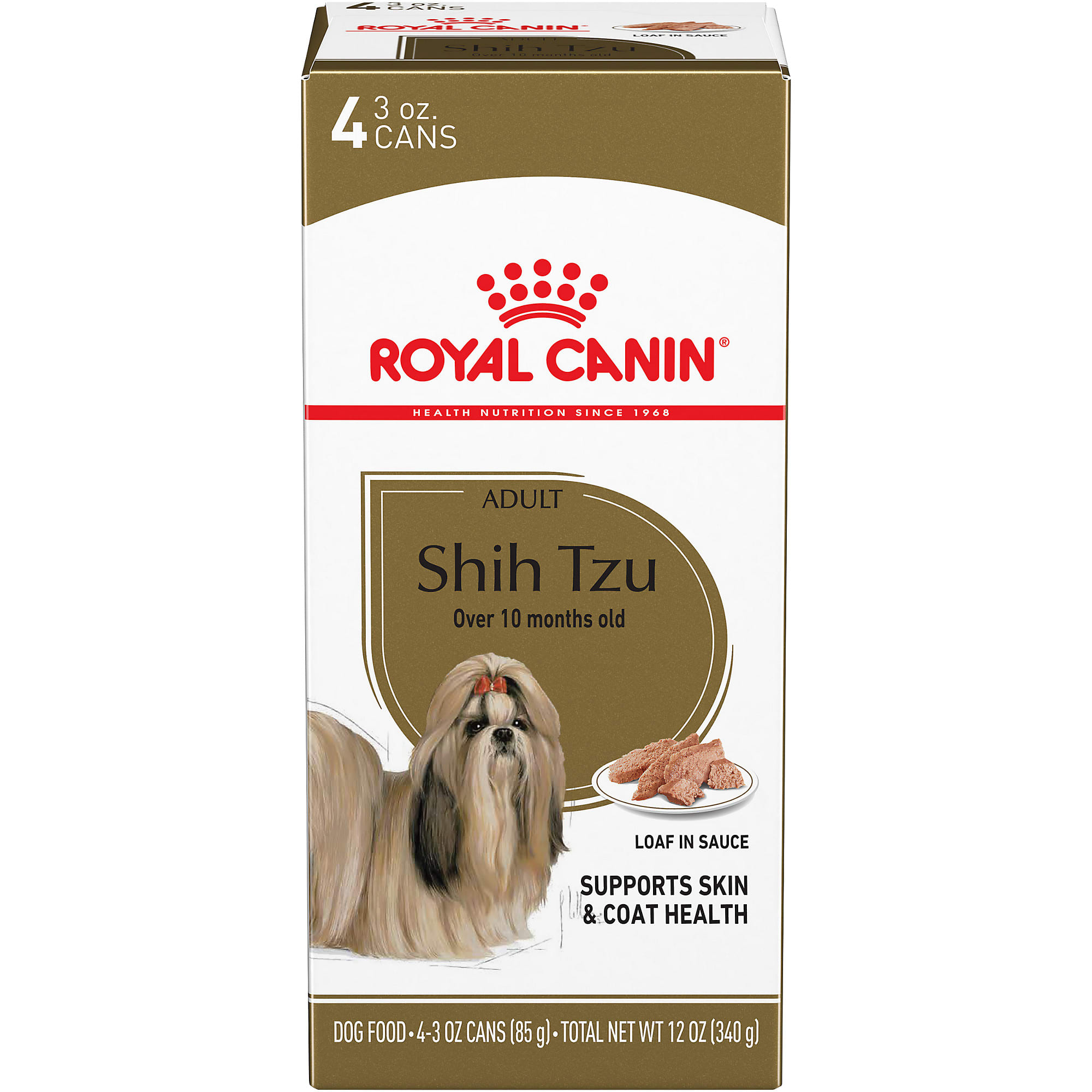 Royal Canin Breed Health Nutrition Shih Tzu Loaf In Sauce Wet Dog Food 3 Oz Pack Of 4 Petco
