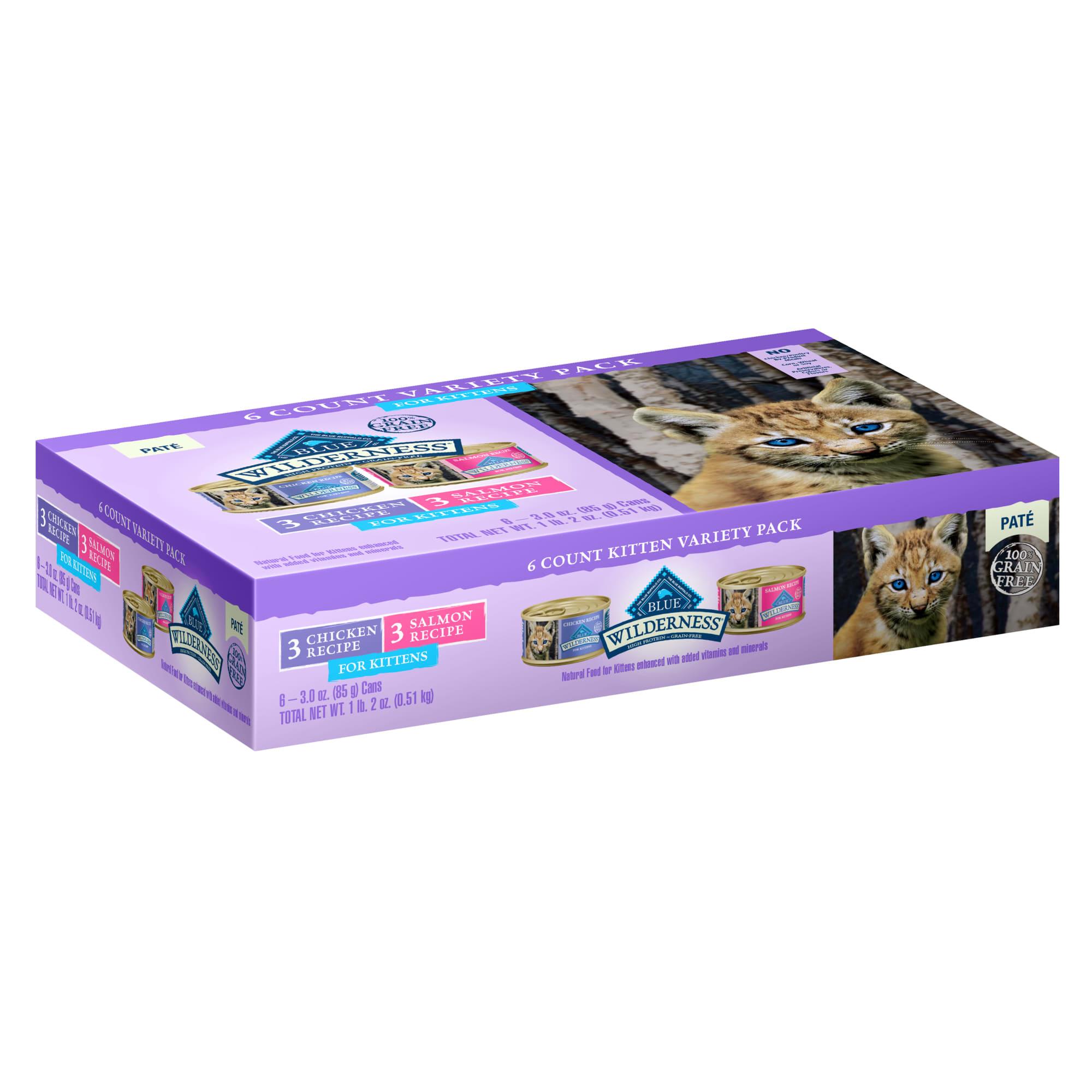 Blue Buffalo Blue Wilderness Kitten Variety Pack Cat Food, 3 oz., Case of 6 | Petco