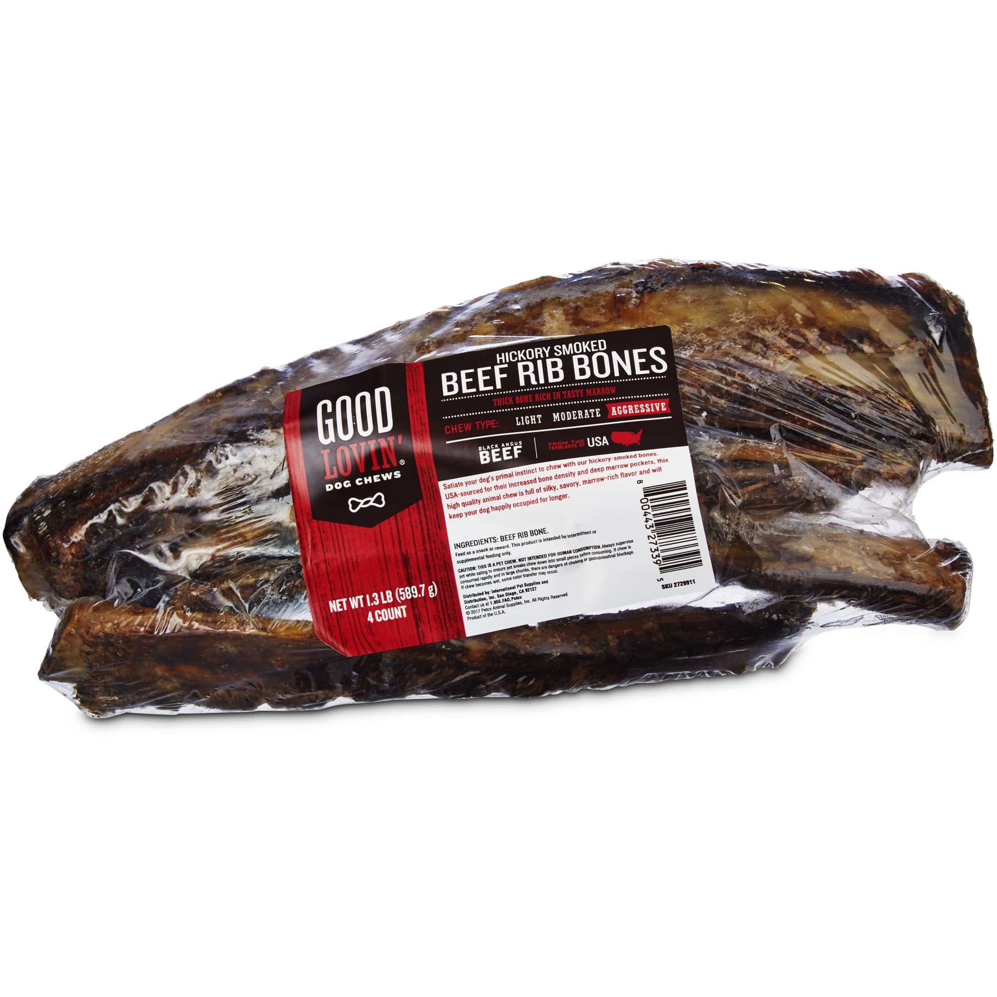 Hickory Smoked Beef Rib Bone Dog Chews