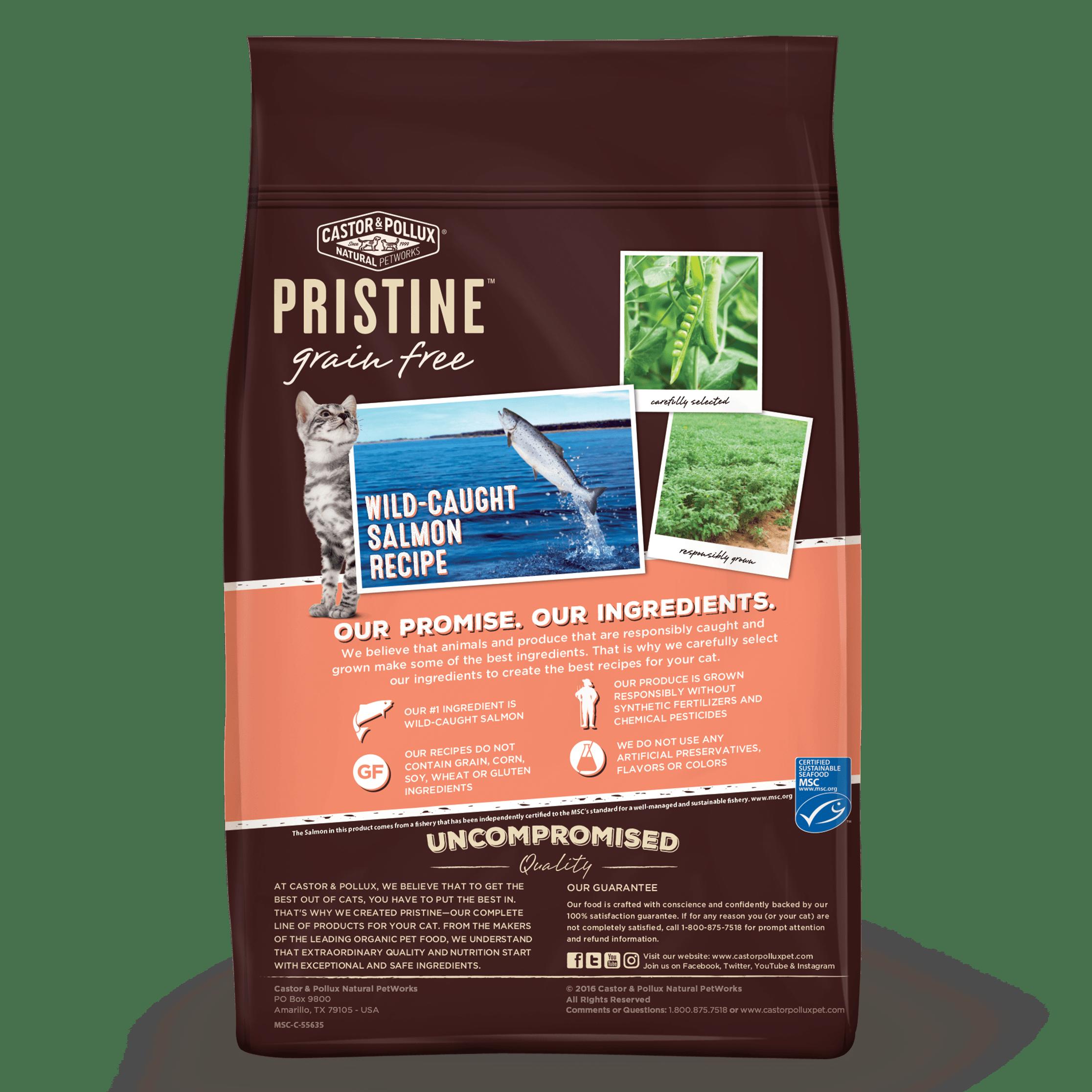 Castor Pollux Pristine Grain Wild Caught Salmon Recipe Dry Cat Food 3 Lbs For Sale Online Ebay