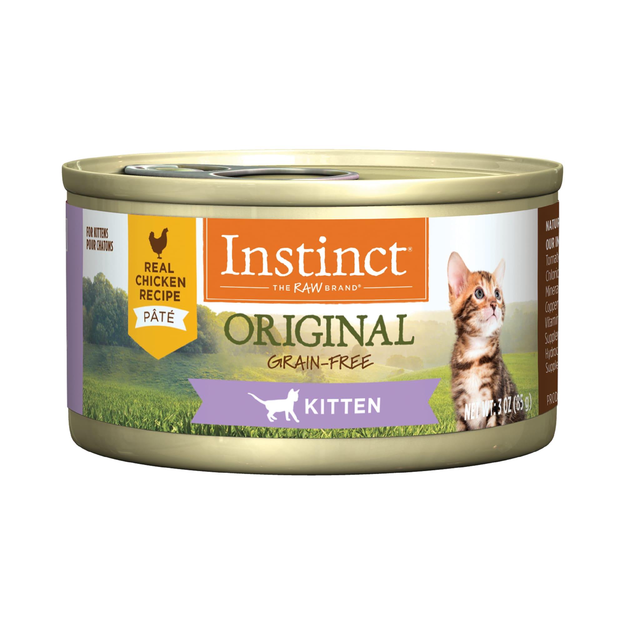 Instinct Original Kitten Grain Free Pate Real Chicken Recipe Wet Cat Food 5 5 Oz Case Of 12 Petco