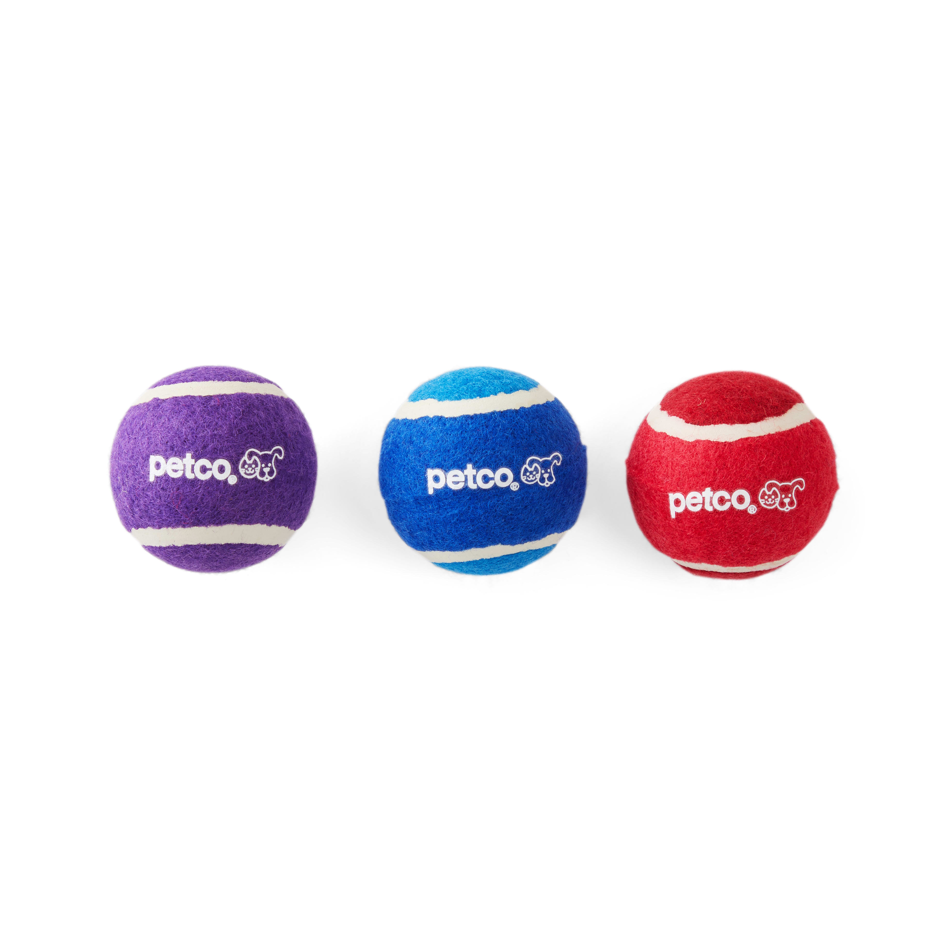 Petco Tennis Ball Dog Toy Set In Assorted Colors 2 Petco