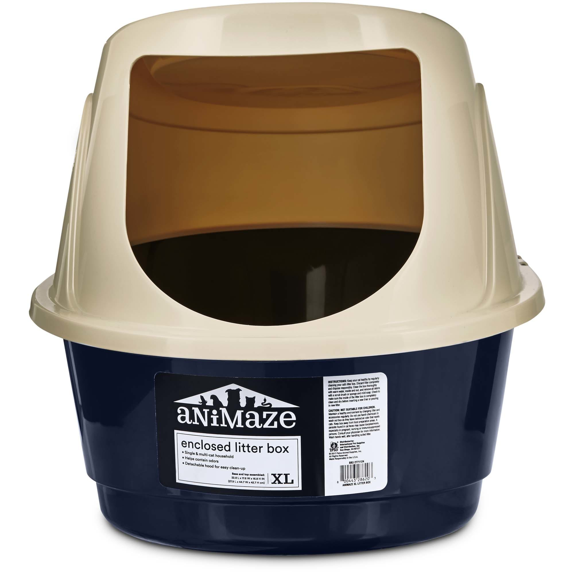Animaze Enclosed Cat Litter Box X