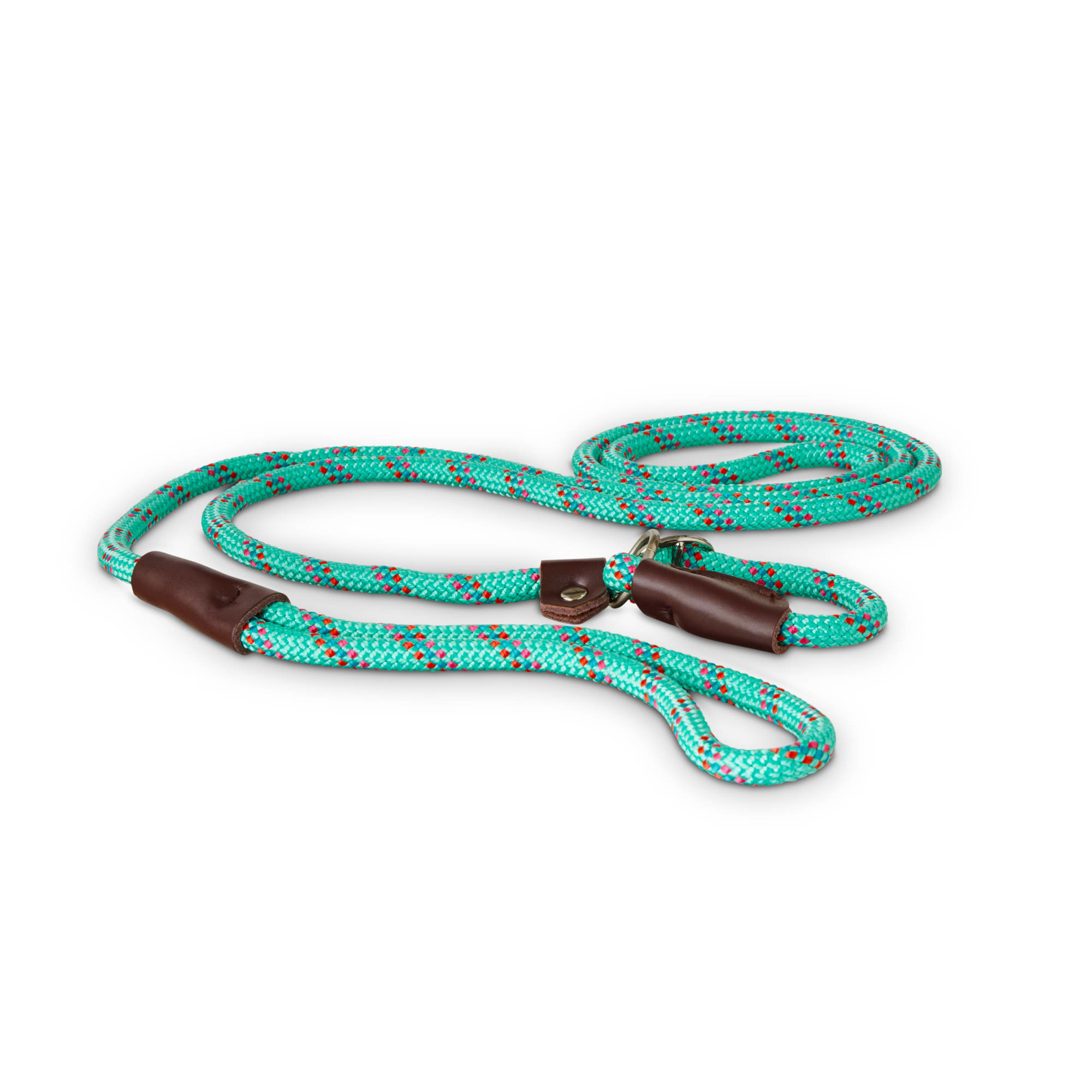 120 cm UMI Essential Durable Diagonal Striped Dog Rope Lead in Blue with Comfy Neoprene Handle Strong Leads for Dogs