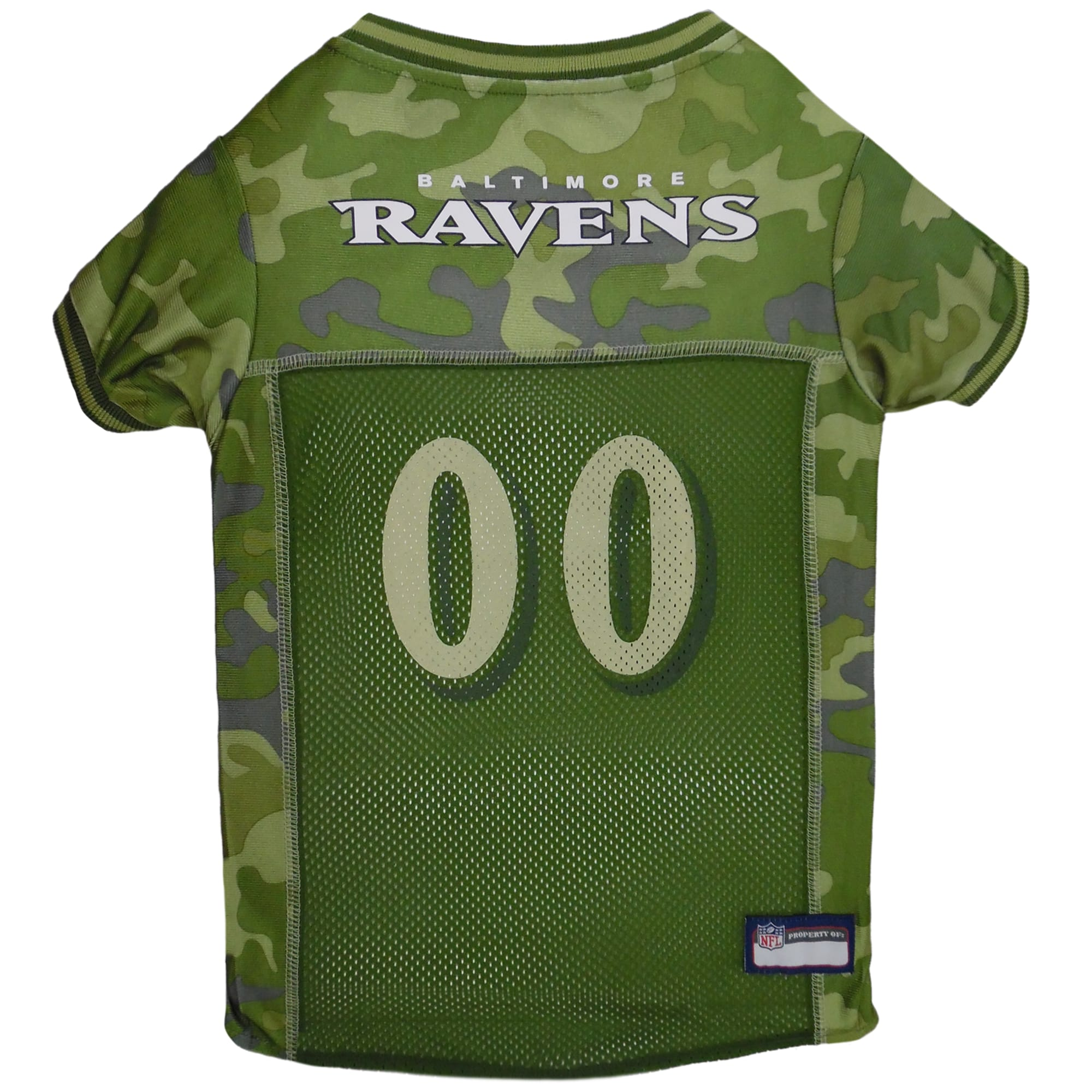 Pets First Baltimore Ravens Camo Jersey, X-Small