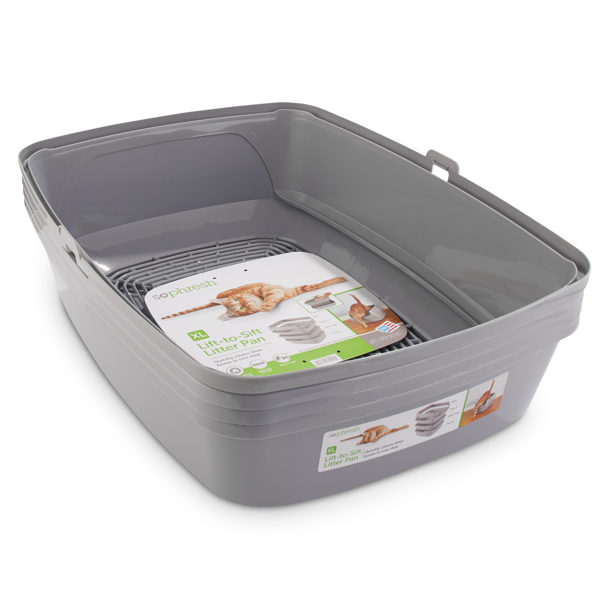 So Phresh Lift To Sift Cat Litter Pan 22 5 L X 17 25 W X 10 5 H Petco