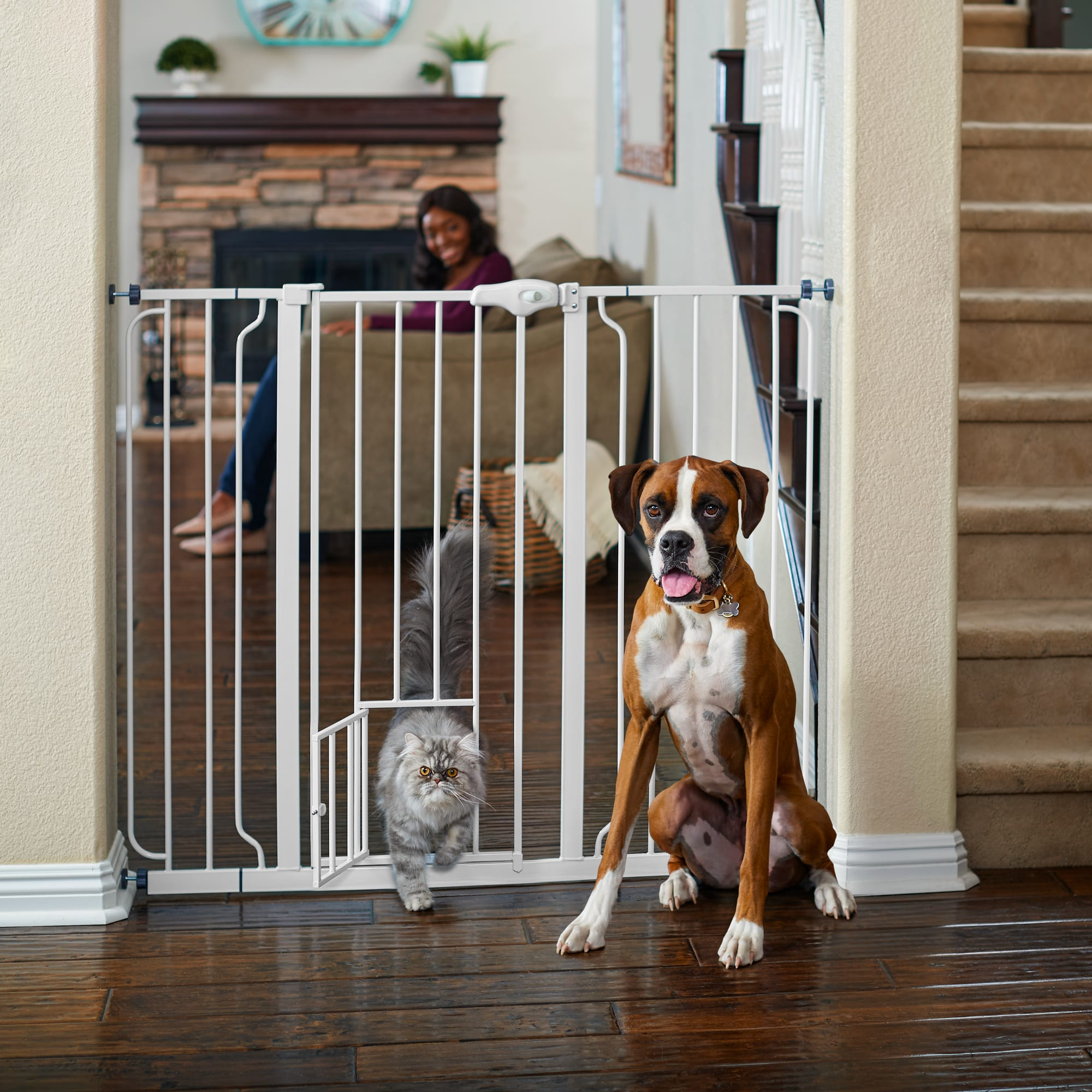 tall dog gates for stairs