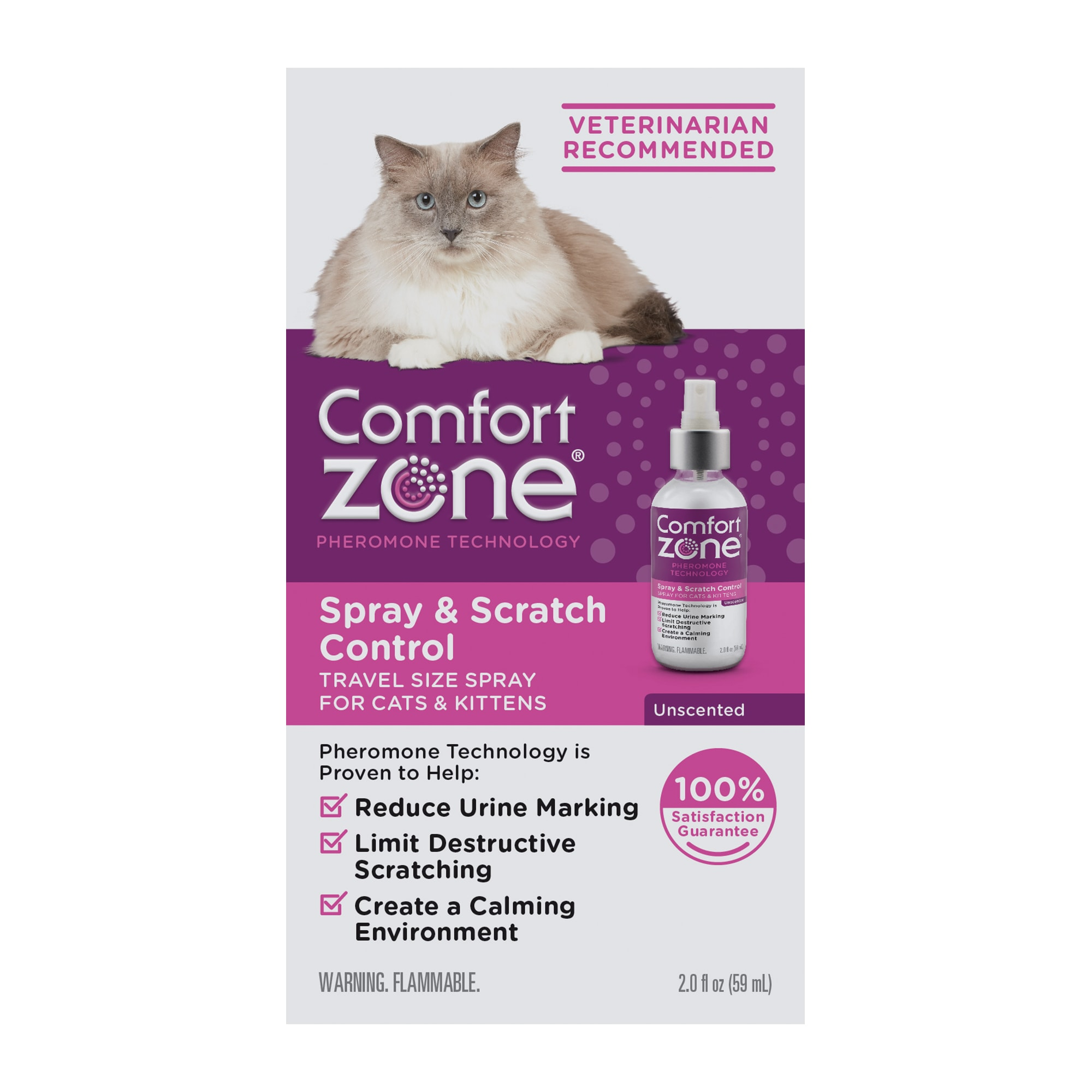 Comfort Zone Spray Scratch Control Spray For Cat 2 Fl Oz Petco