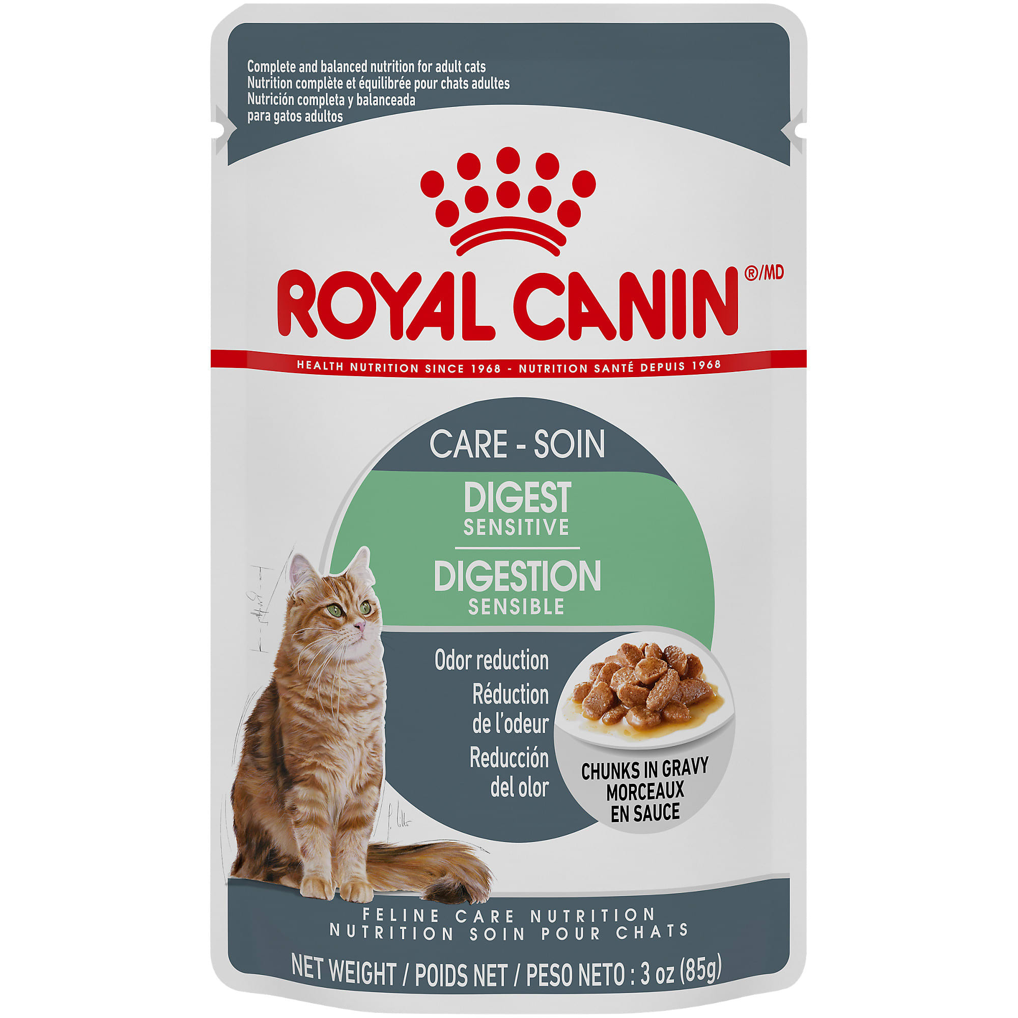 Royal Canin Digest Sensitive Chunks In Gravy Adult Wet Cat Food Pouch 3 Oz Petco