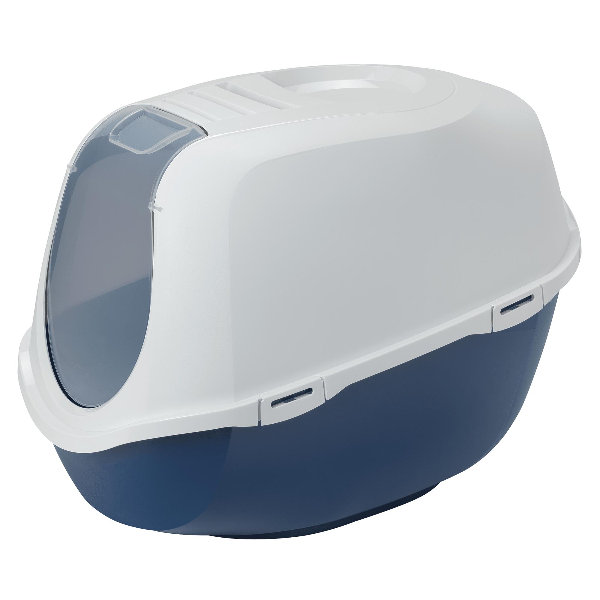 Moderna Mega Smart Cat Enclosed Blue Litter Box X Large Petco