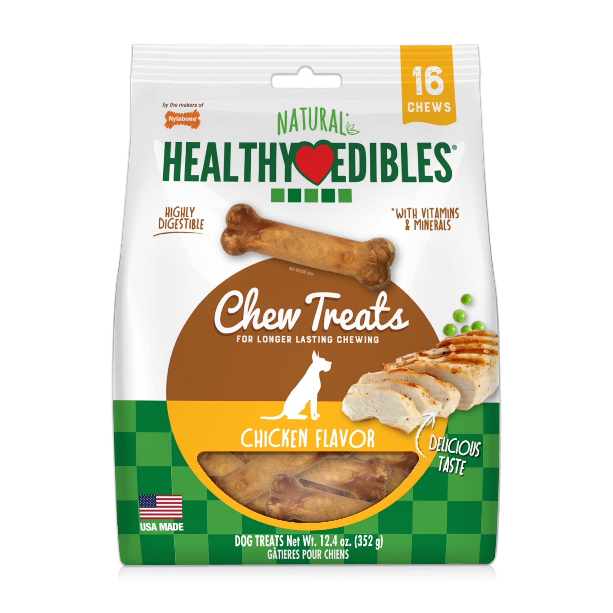 Nylabone Healthy Edibles Natural Chicken Dog Treats 12 4 Oz Petco