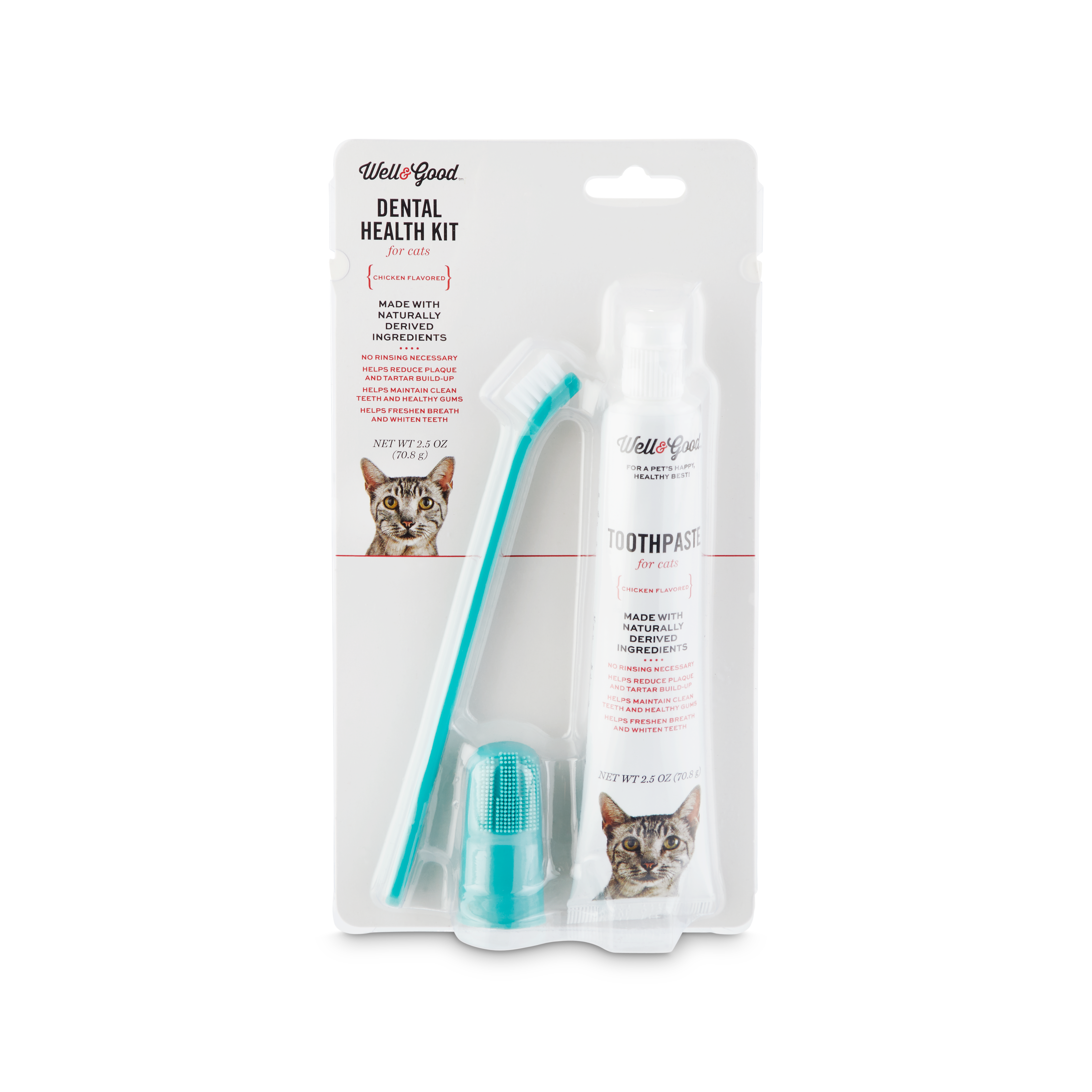 Well Good Cat Dental Health Kit With Chicken Flavored Toothpaste 2 5 Oz Petco