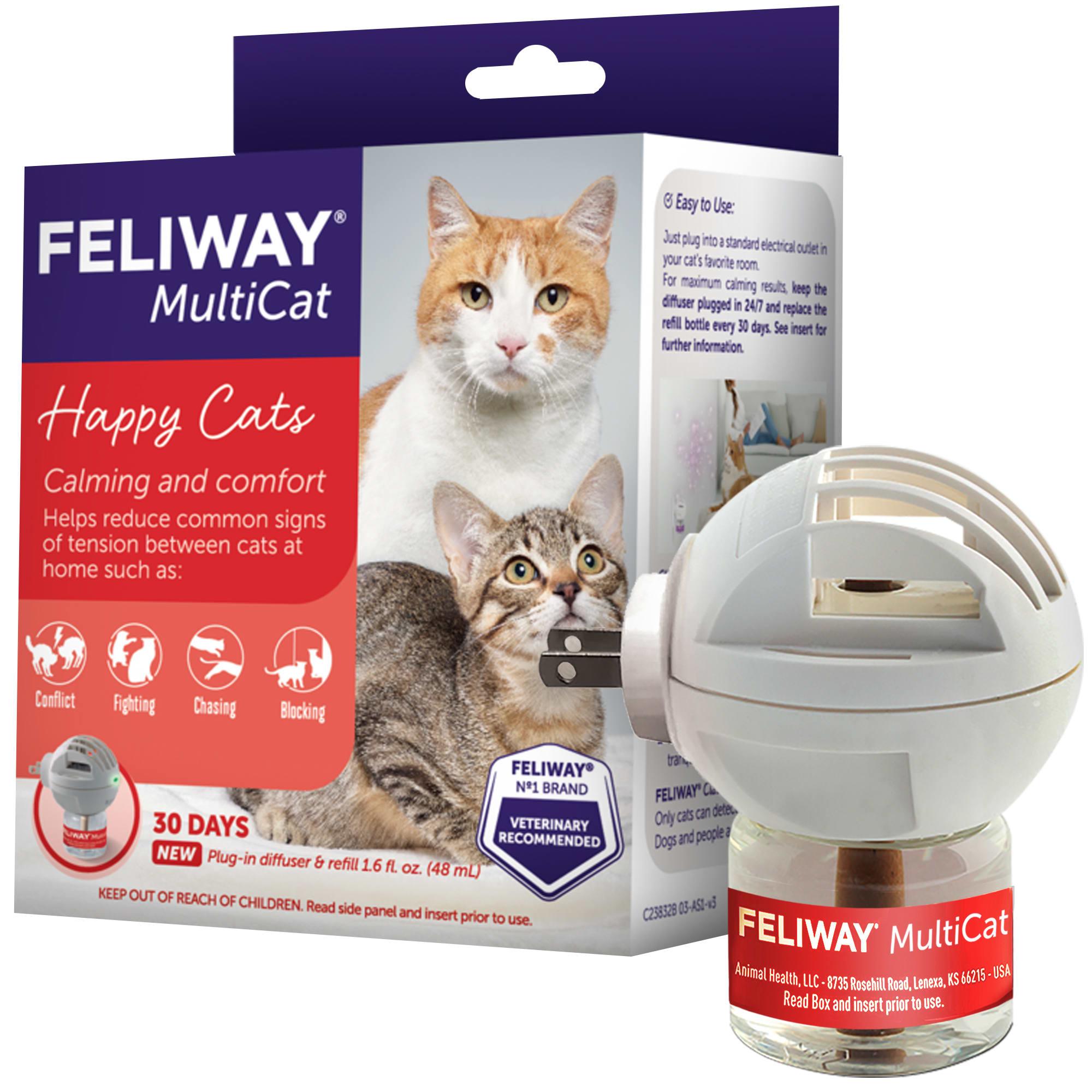 Feliway 30 Day Multicat Diffuser Plug-In Starter Kit, 48 ml. image