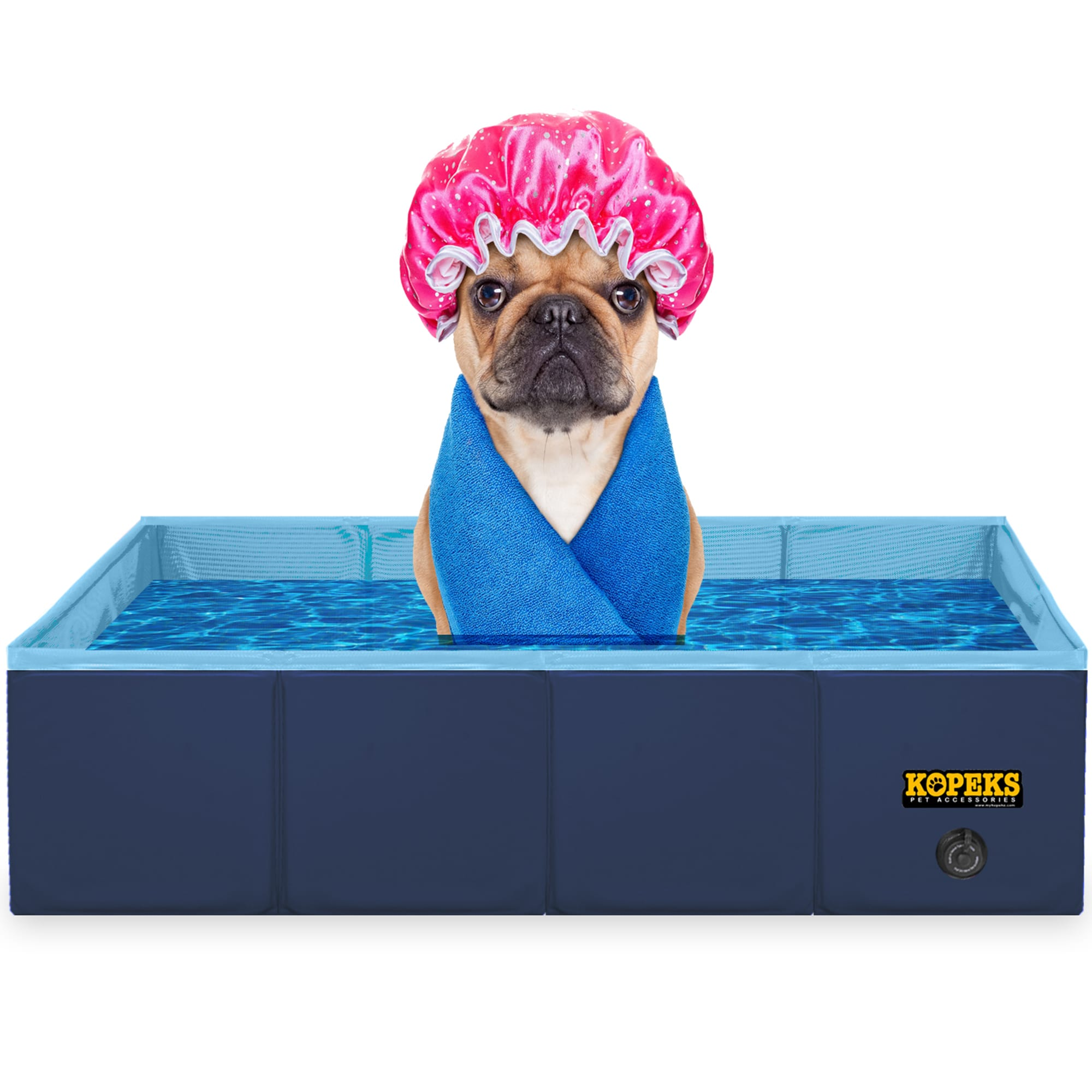 Kopeks Rectangular Outdoor Pet Blue Swimming Pool Large Petco