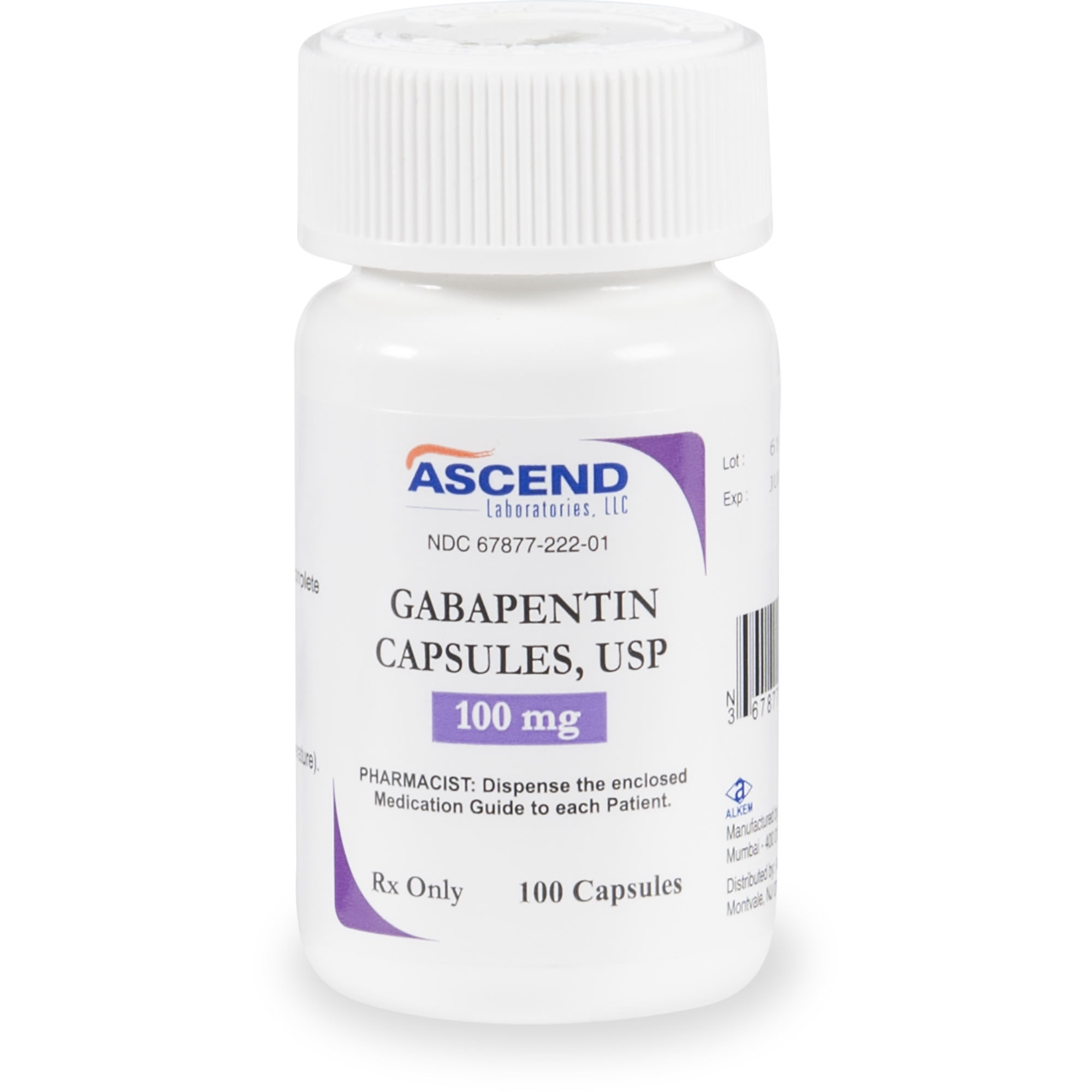 Gabapentin 100 Mg Capsules 60 Count
