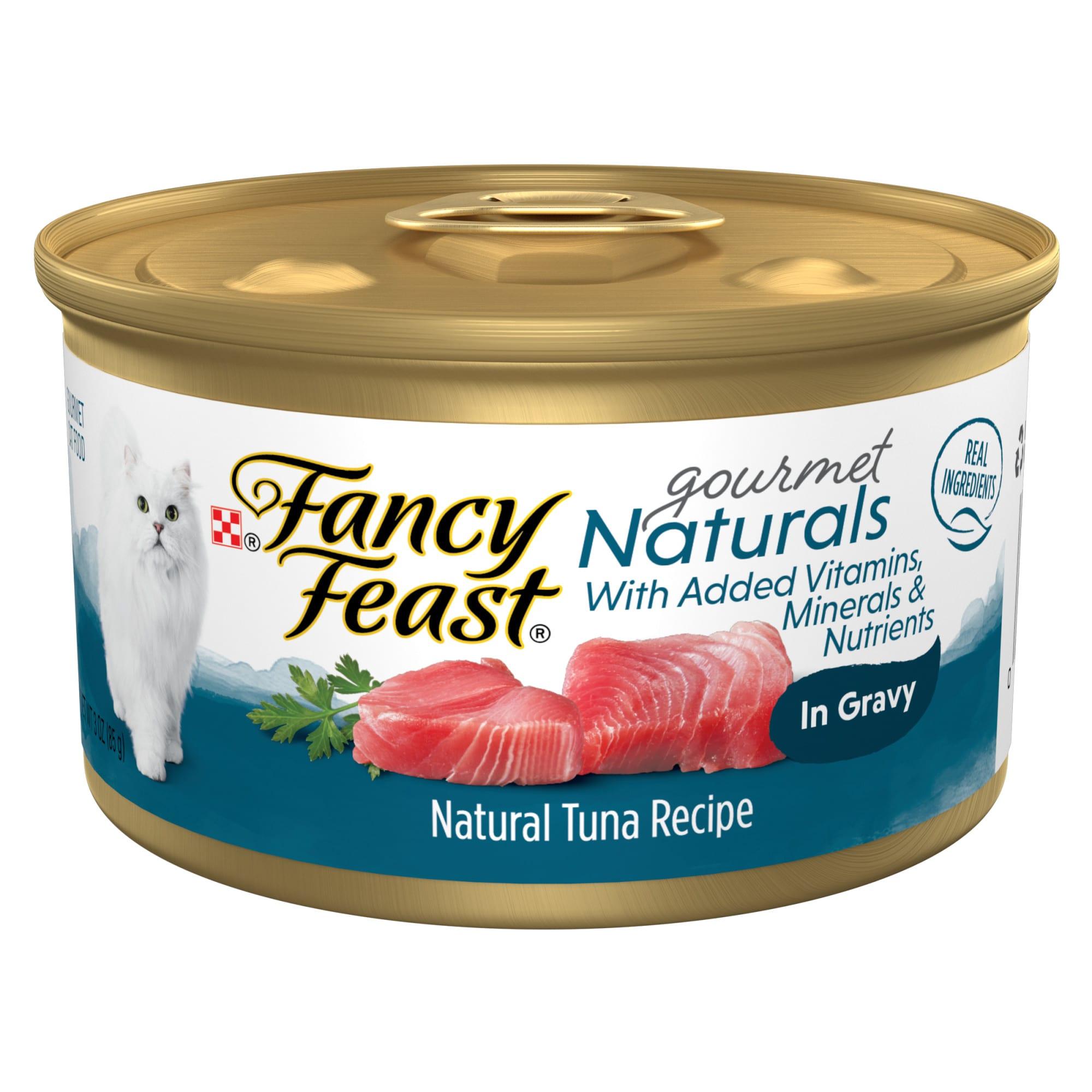Fancy Feast Gourmet Naturals Tuna Recipe In Gravy Wet Cat Food 3 Oz Case Of 12 Petco