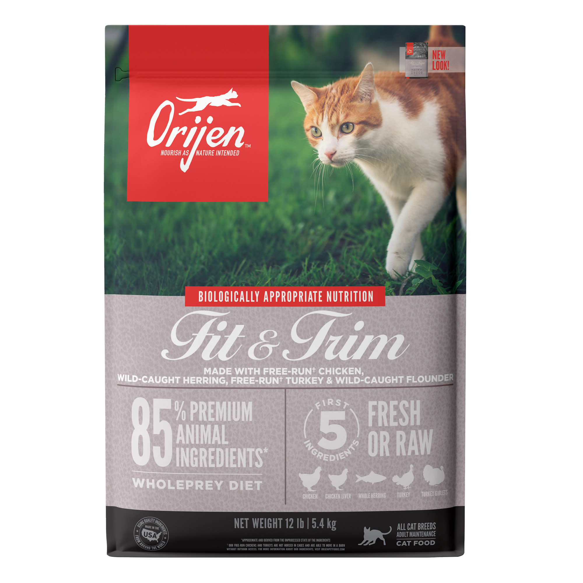 Orijen Fit Trim Dry Cat Food 12 Lbs