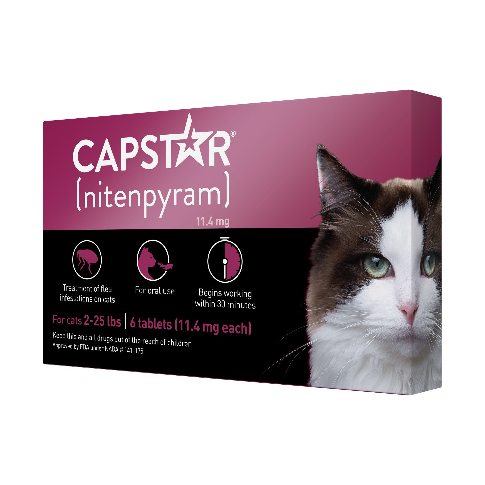 Capstar Flea Tablets For Cats 2 25 Lbs Count Of 6 Petco