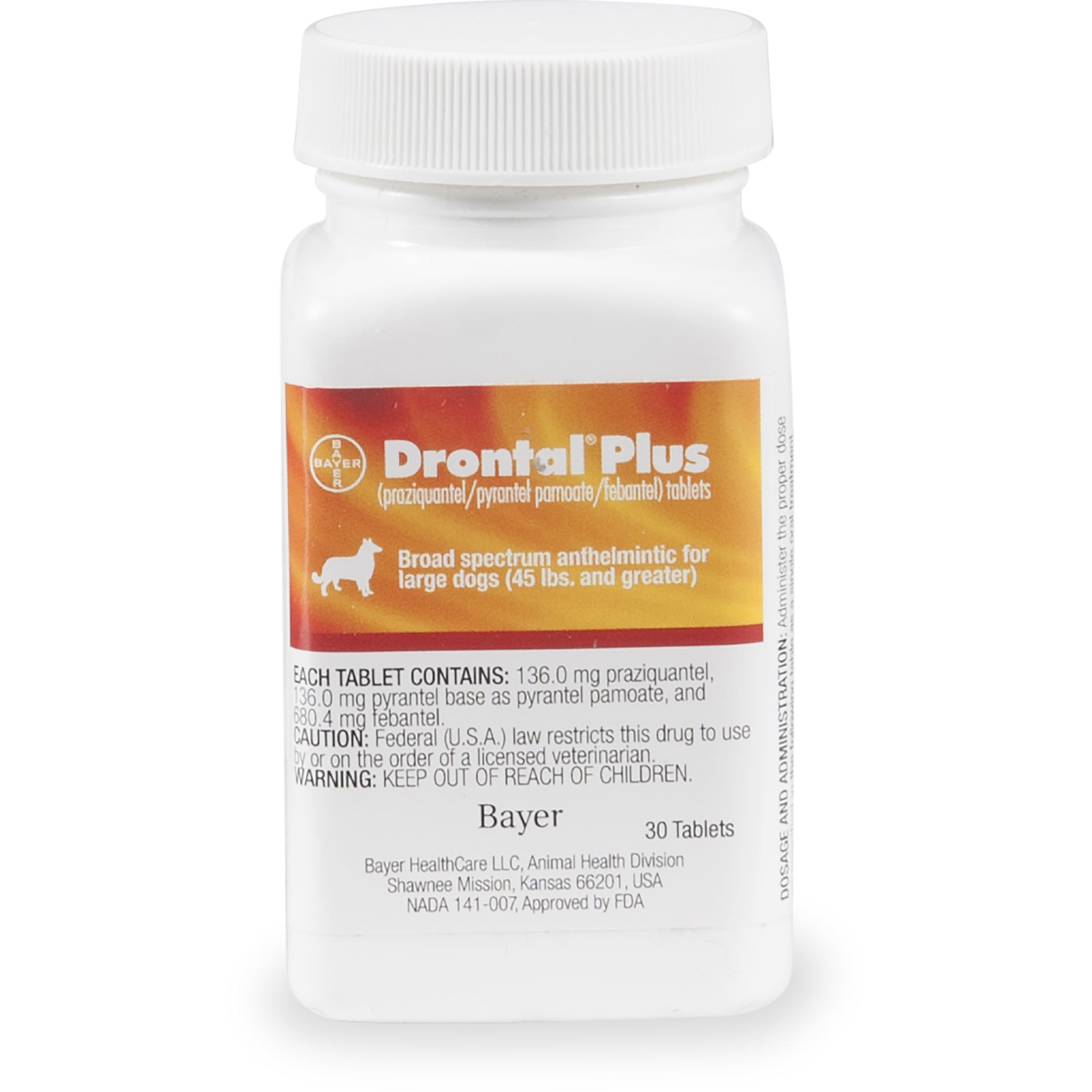 Drontal Plus For Large Dogs Single Tablet Petco