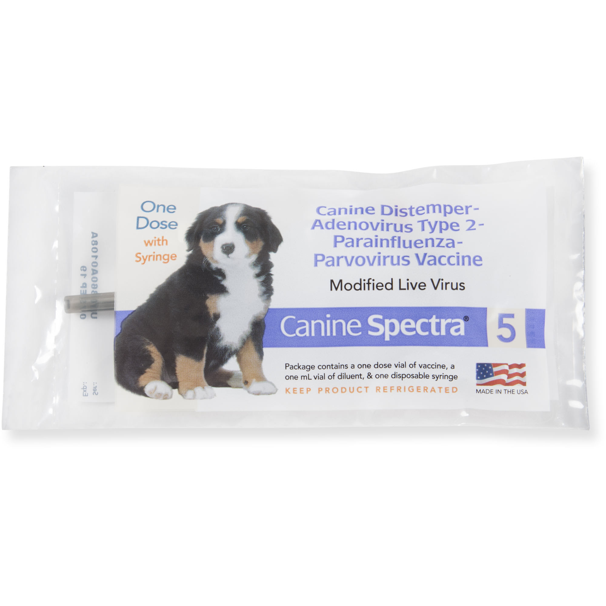 Distemper puppy vaccine