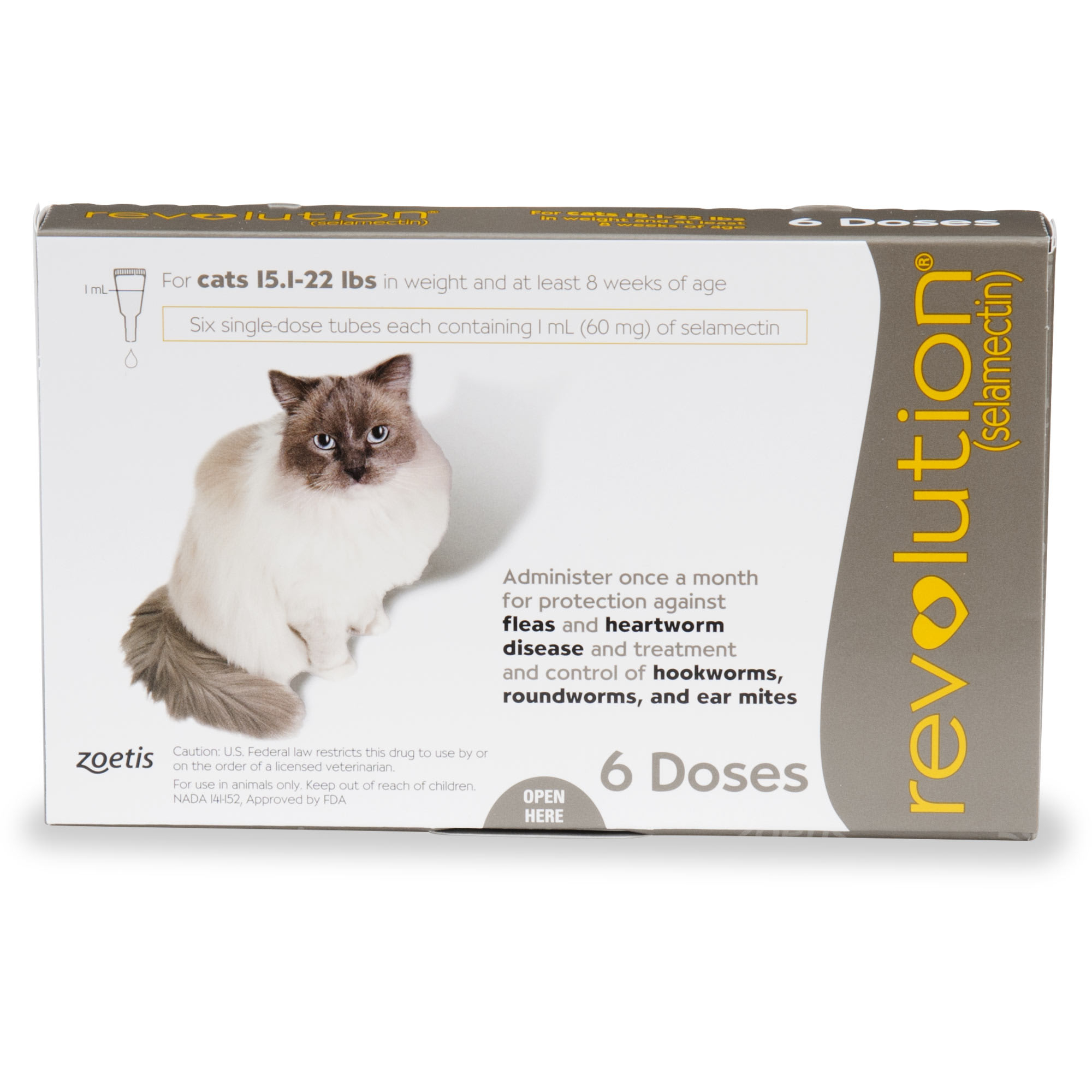 Revolution Topical Solution For Cats 15 1 22 Lbs Taupe 6 Pack Petco