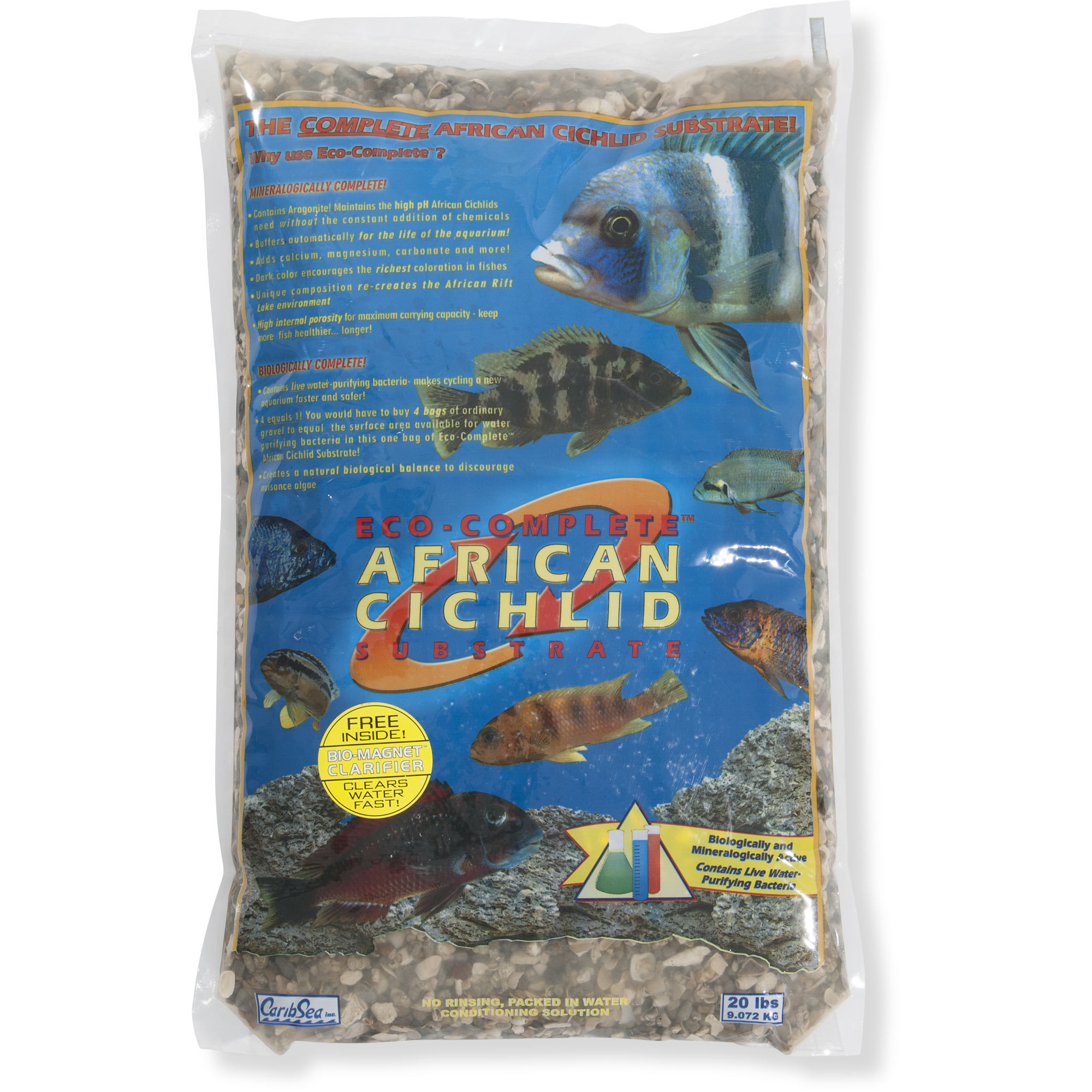 Caribsea Eco Complete African Cichlid Gravel Substrate 20 Lbs Petco