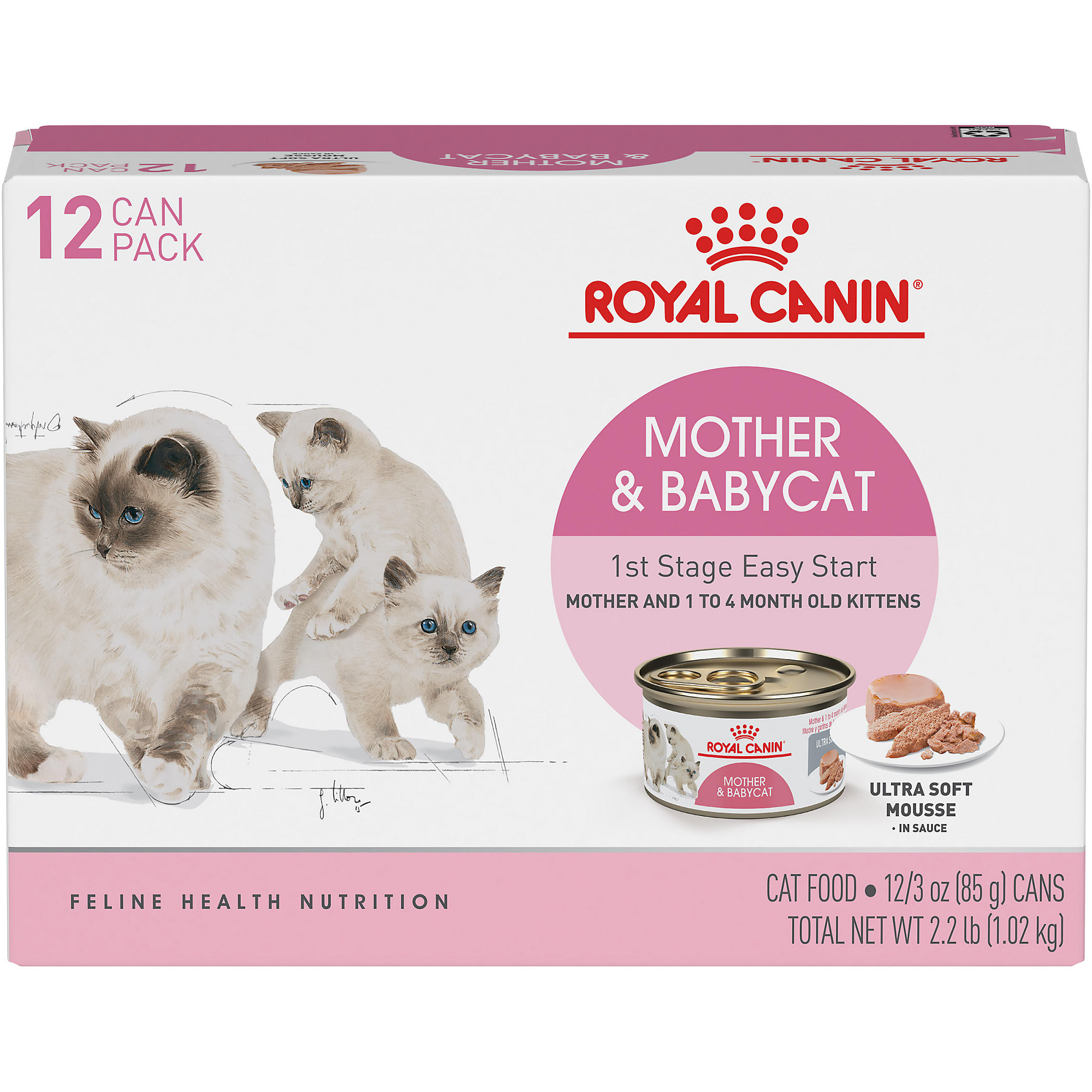 Royal Canin Mother Babycat Ultra Soft Mousse In Sauce Variety Pack Wet Cat Food 3 Oz Count Of 12 Petco