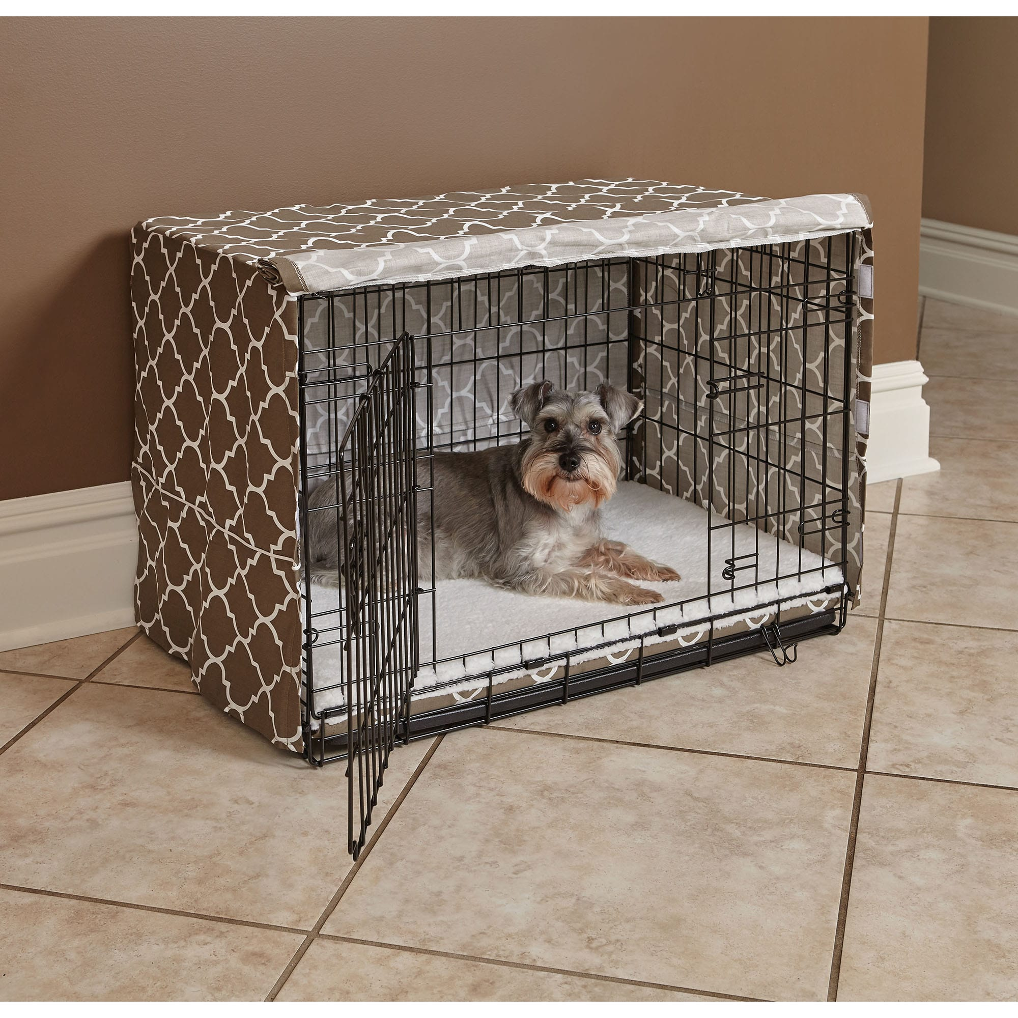 thumbnail 8 - Midwest-Quiet-Time-Defender-Brown-Crate-Cover-for-Dogs