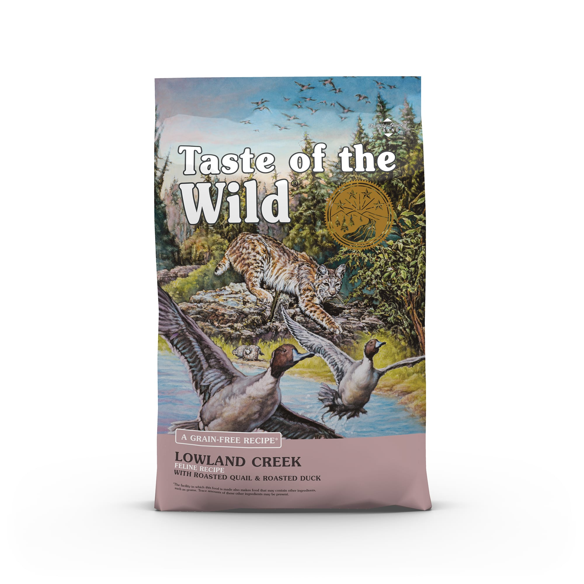 Taste of the Wild Lowland Creek Grain-Free Roasted Quail & Roasted Duck Dry Cat Food, 14 lbs ...