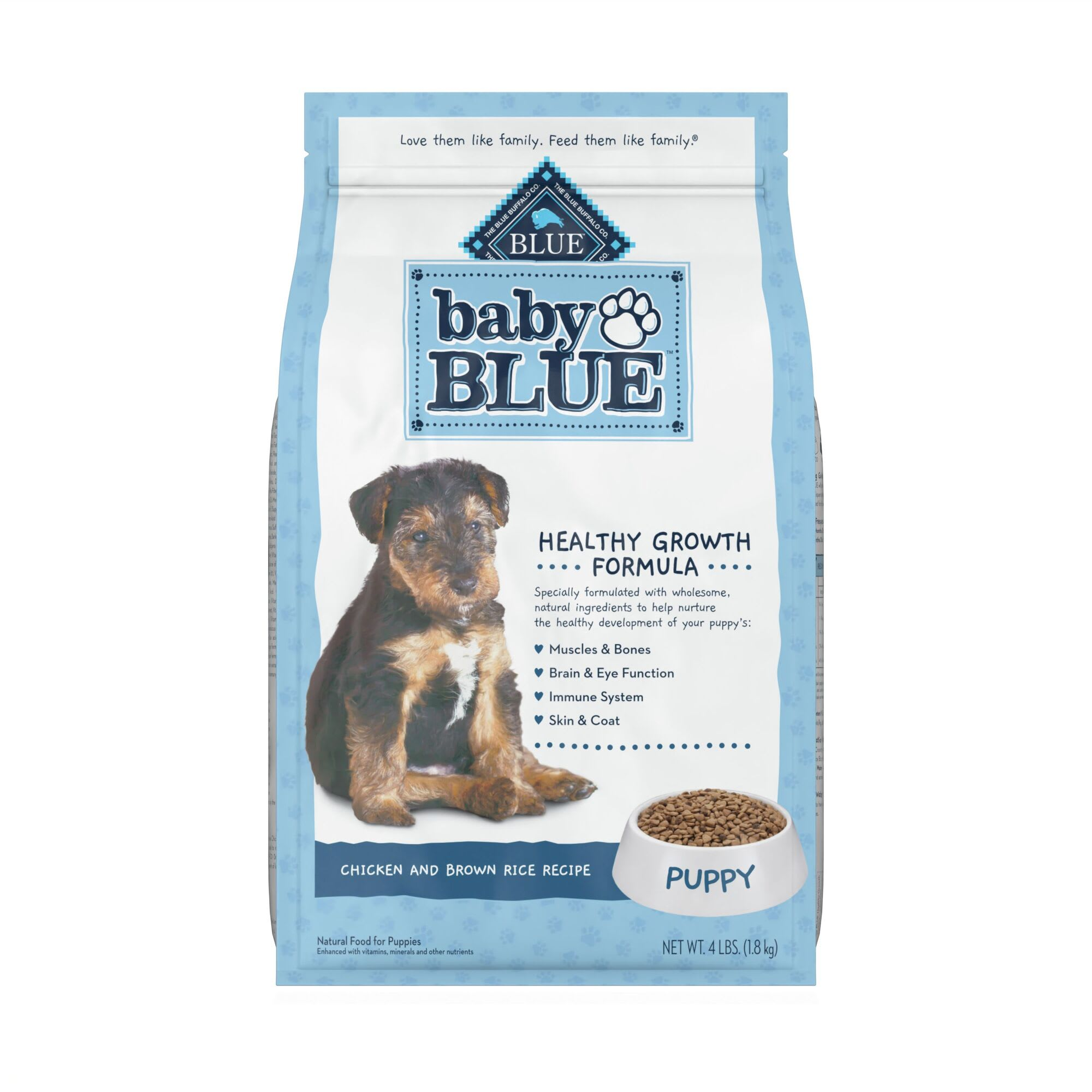 Blue Buffalo Baby Blue Natural Chicken and Brown Rice Recipe Dry Puppy Food,  24 lbs. | Petco