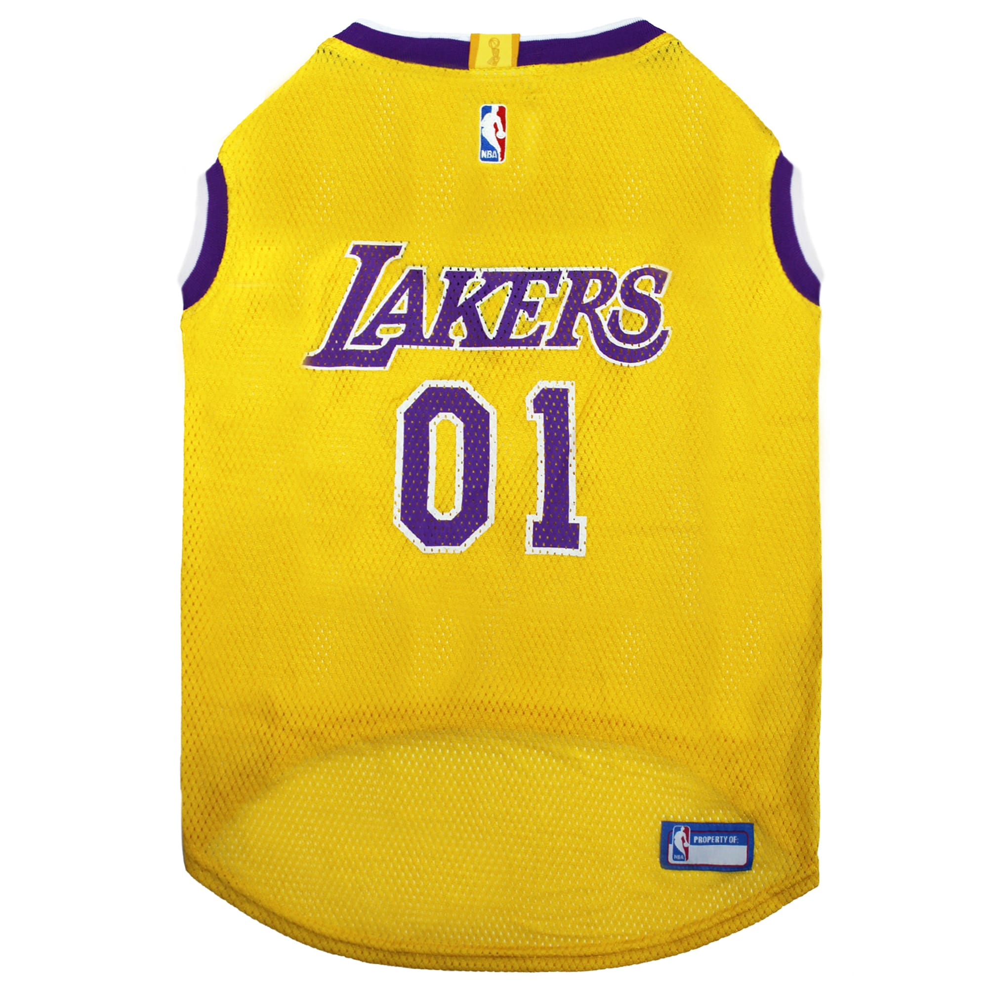 Pets First La Lakers Basketball Mesh Jersey for Dogs, X-Large