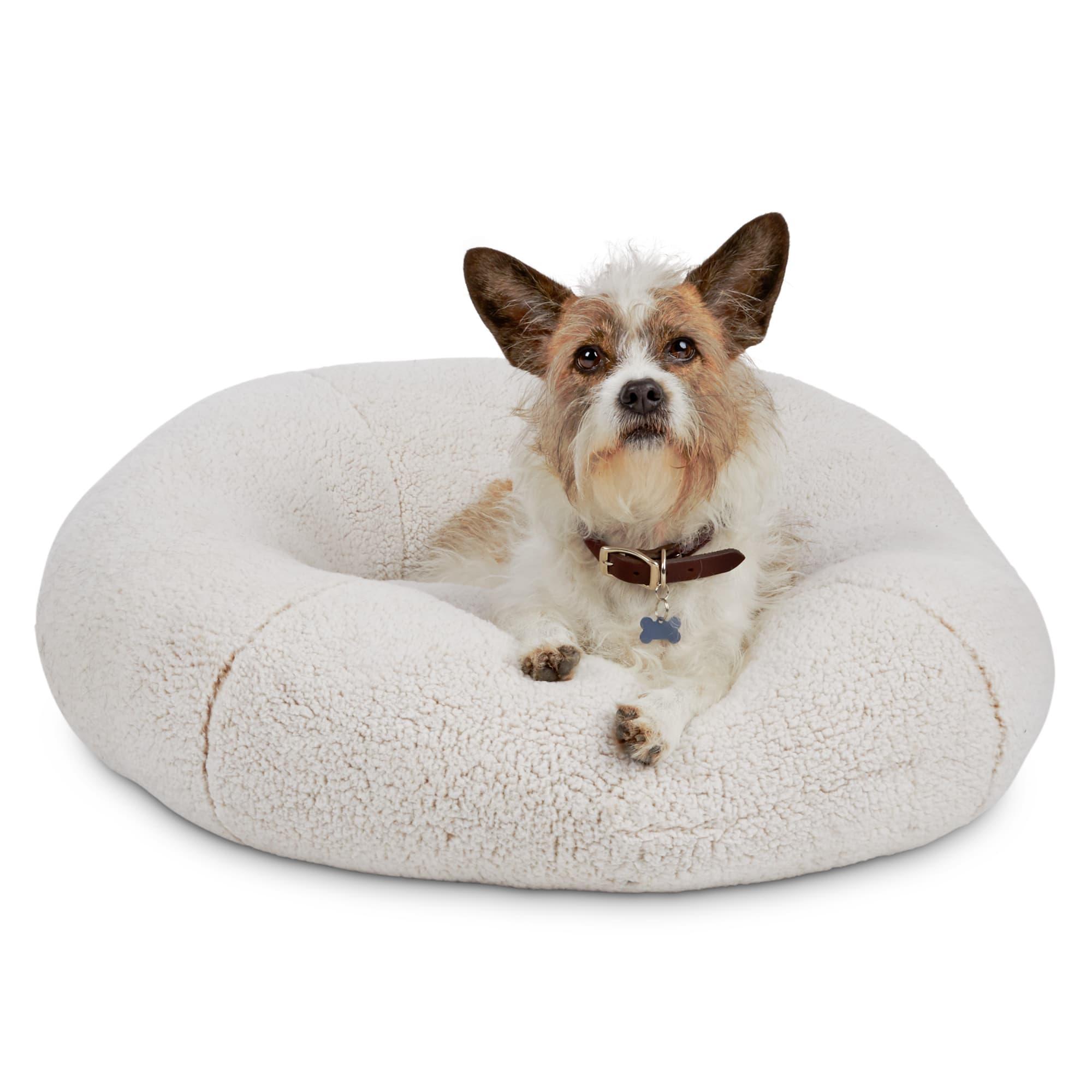 Harmony Cream Snuggle Ball Dog Bed 30