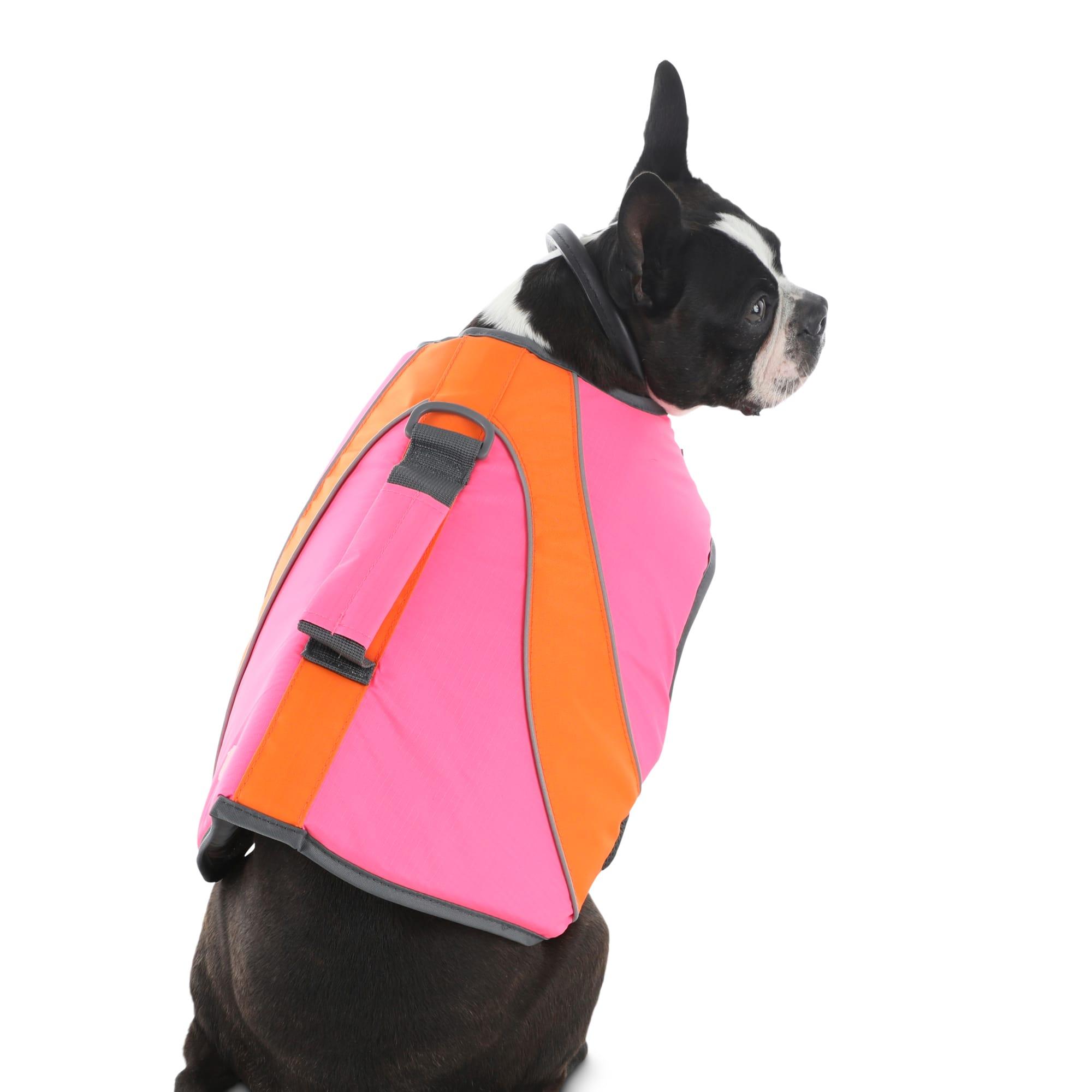 Good2go Neon Pink Orange Dog Flotation Vest Xx Small Petco