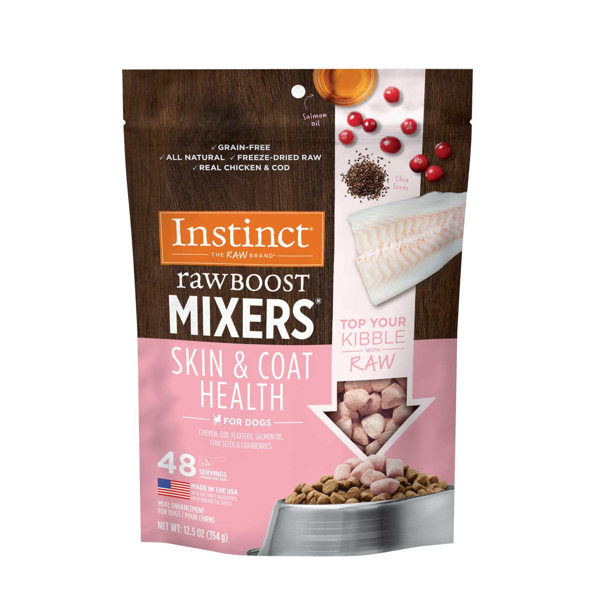 Instinct rawboost mixers for skin & coat