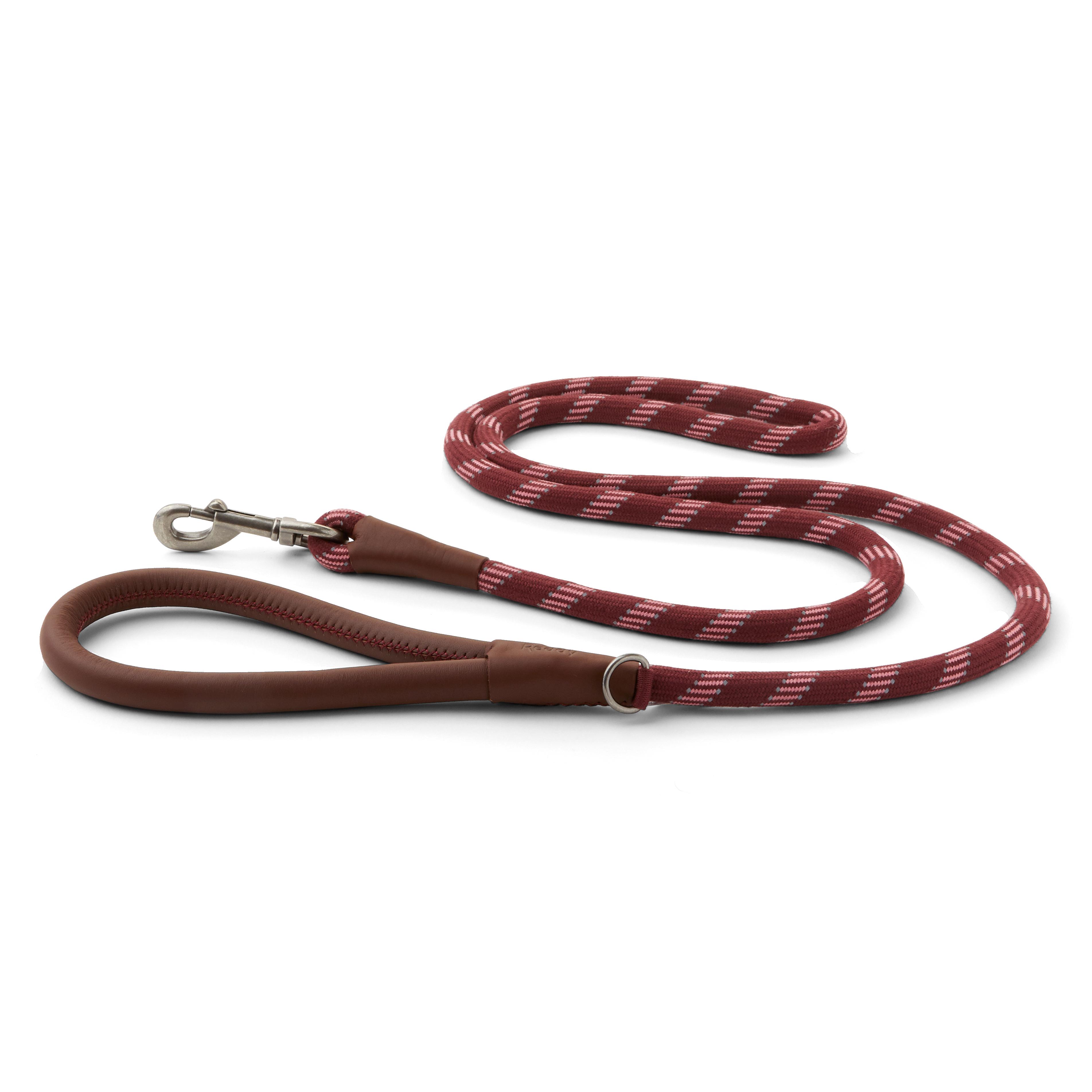 Reddy Burgundy Rope Dog Leash, 6 ft.