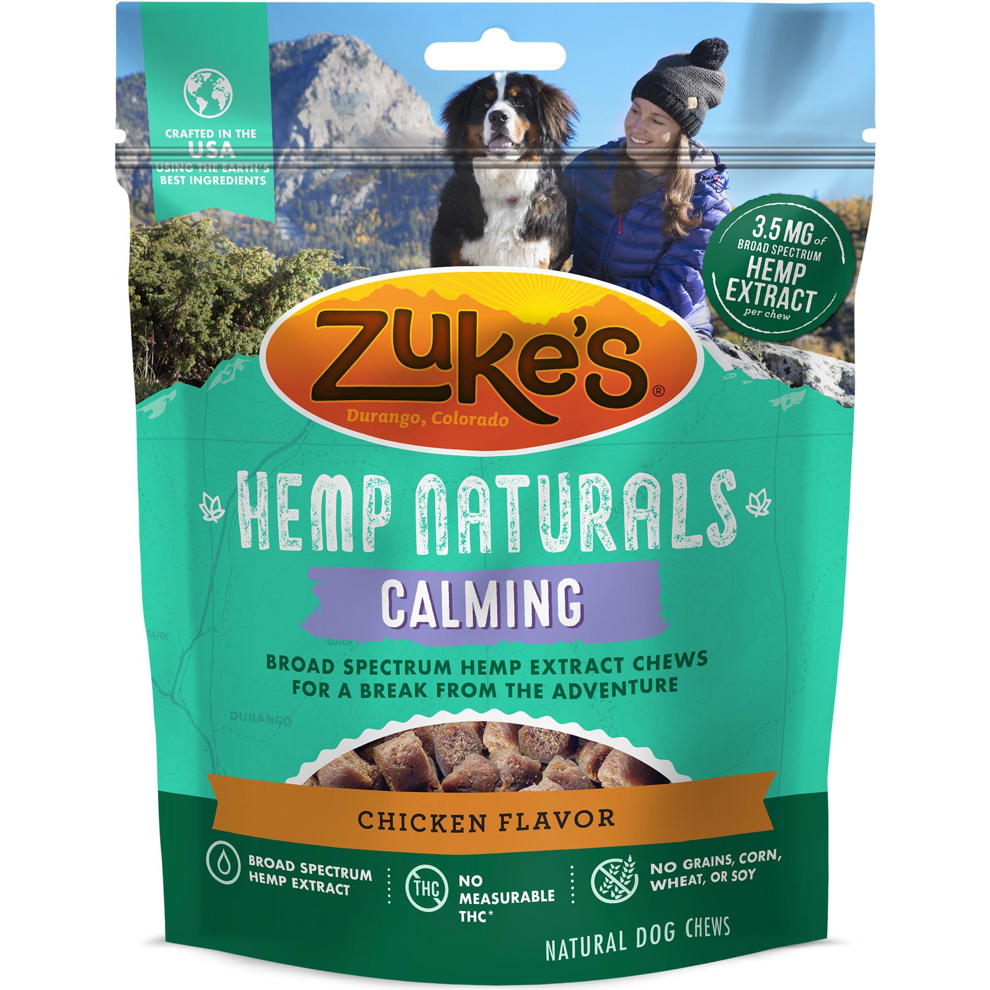Image of Zuke's Hemp Naturals Calming Chicken Formula Dog Treats, 5 oz.