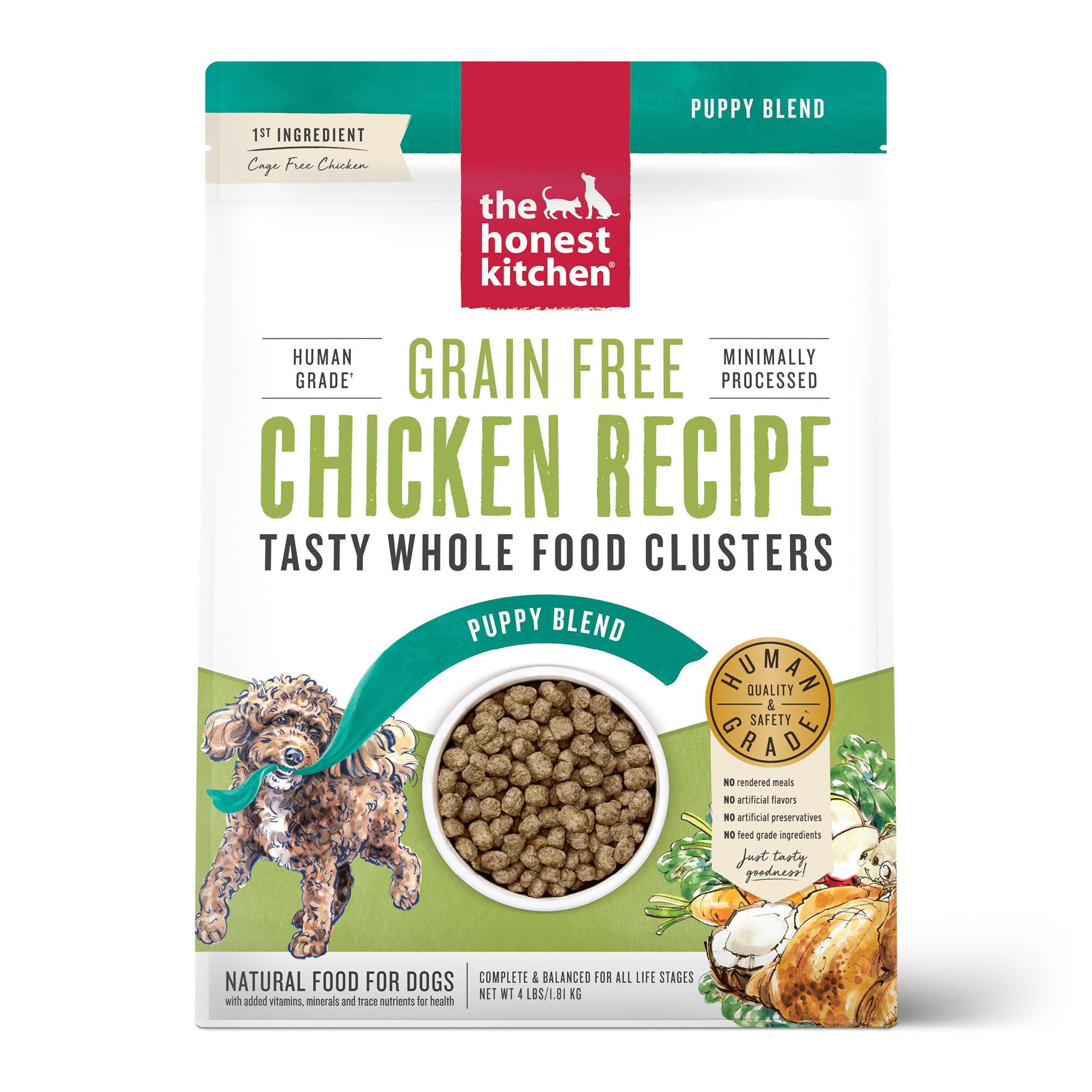 The Honest Kitchen Whole Food Clusters Puppy Grain Free Chicken Dry Dog Food 4 Lbs Petco