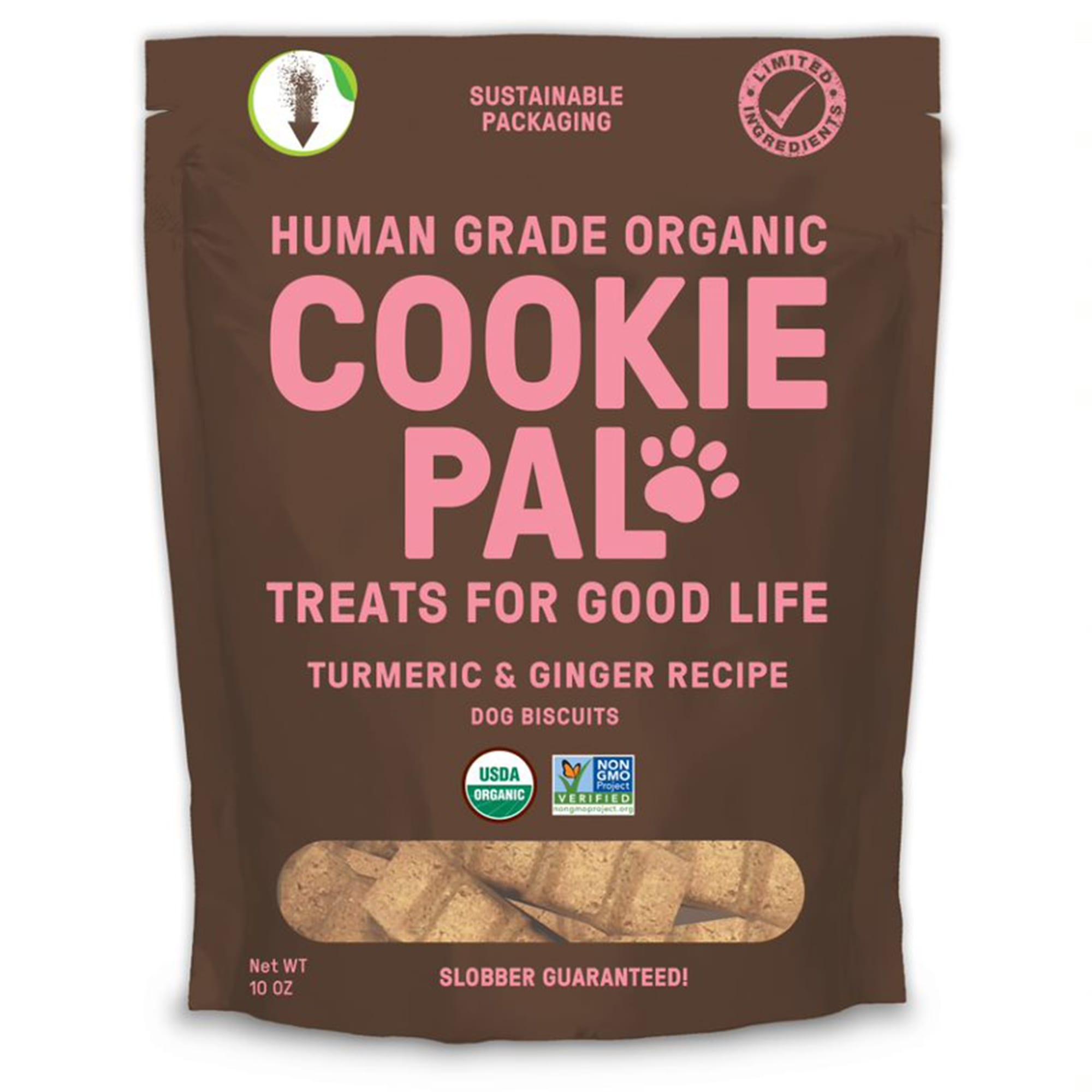Cookiepal Organic Turmeric And Ginger Recipe Dog Biscuits 10 Oz Petco